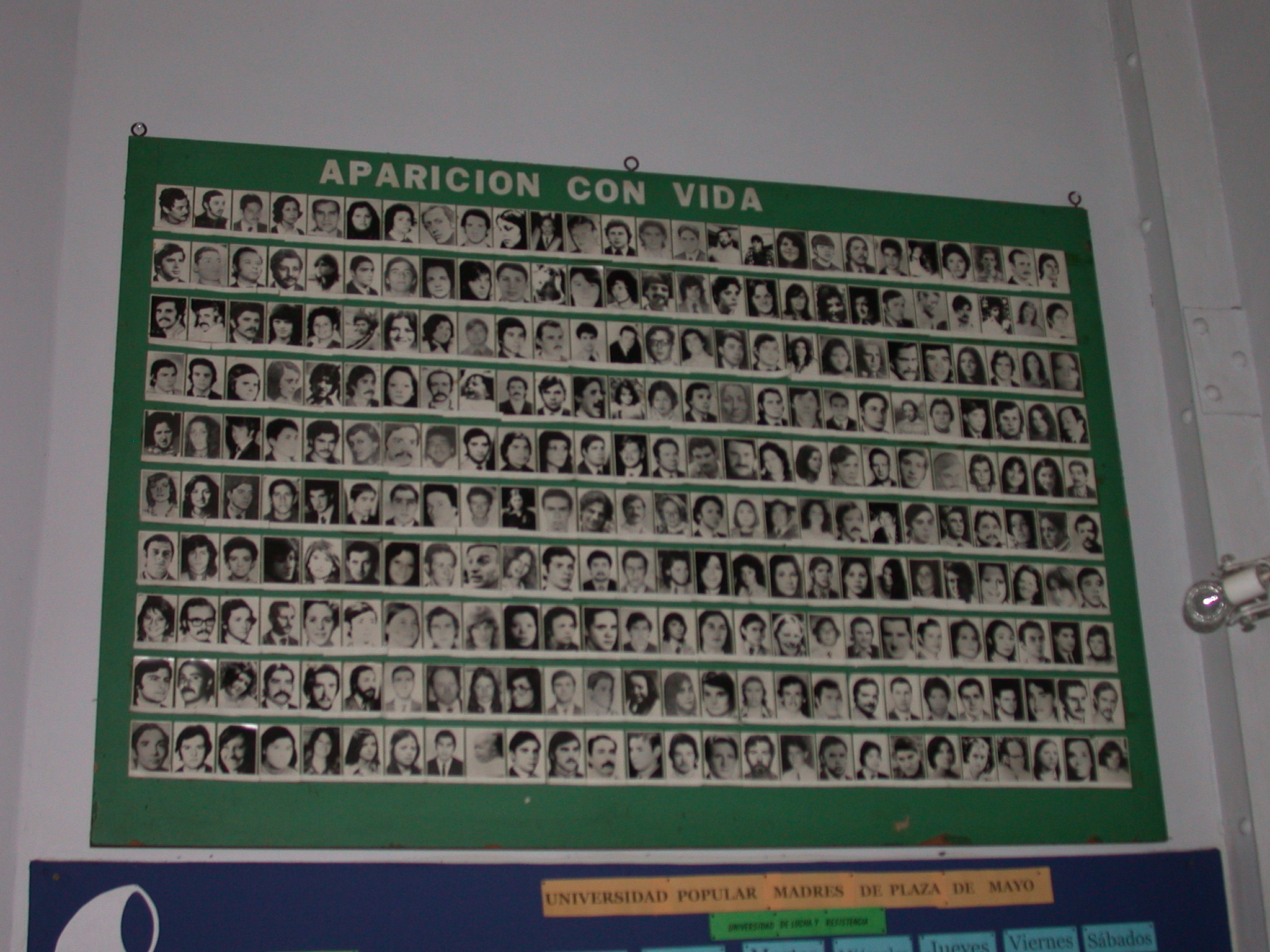 List of Disappeared Persons, Cafe de las Madres, Buenos Aires, Argentina