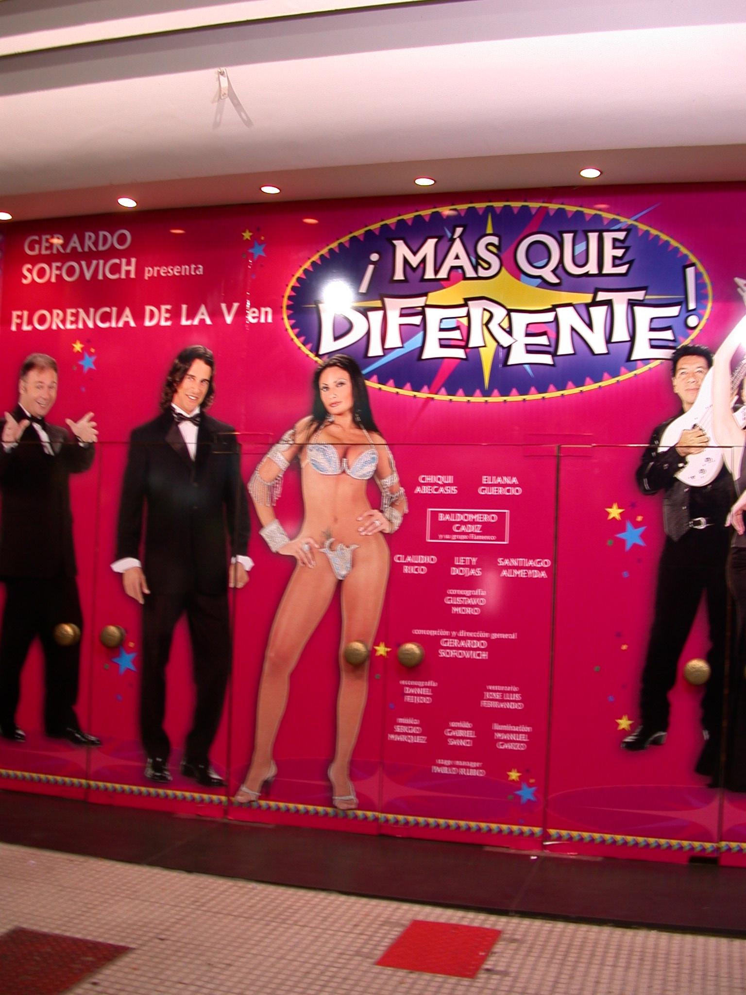 Burlesque Theater Entrance, Buenos Aires, Argentina
