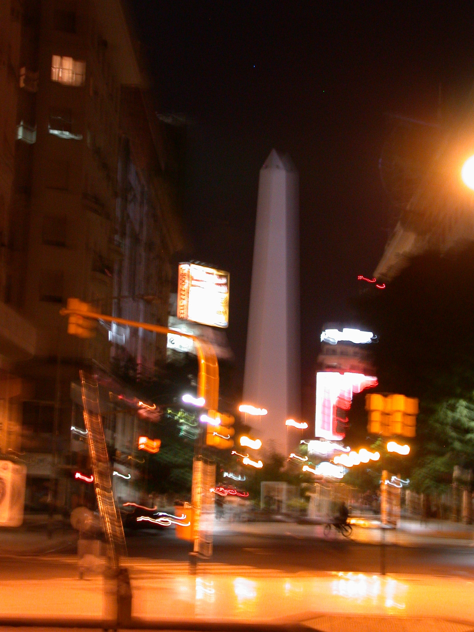 Blurry Obelisk, Buenos Aires, Argentina