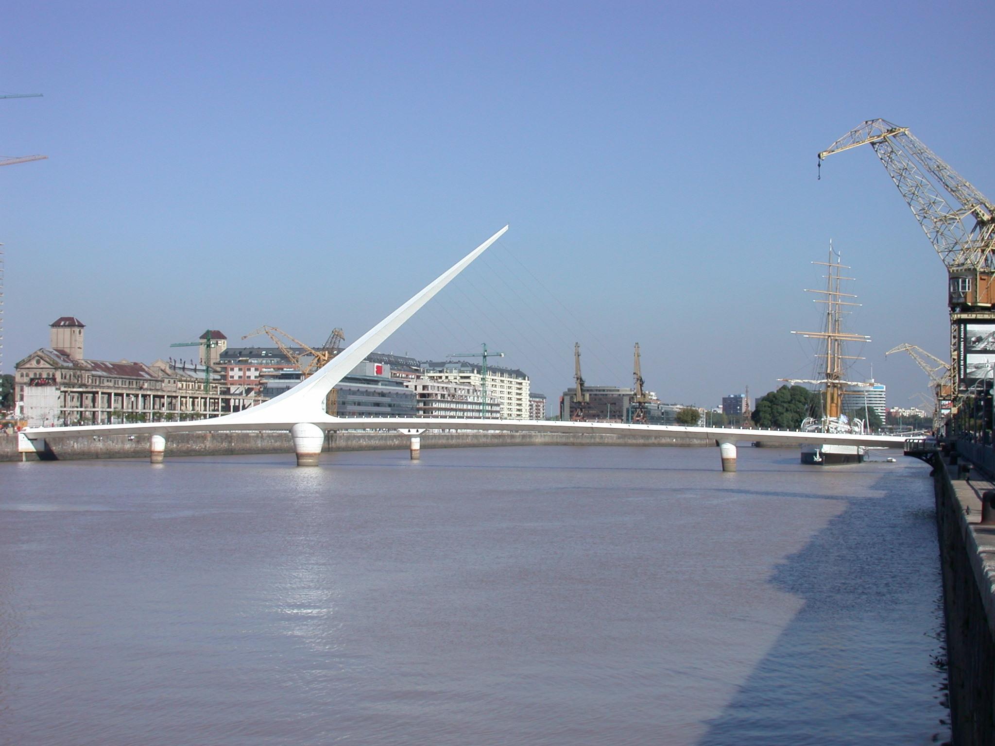 Bridge, Puerto Madero, Buenos Aires, Argentina