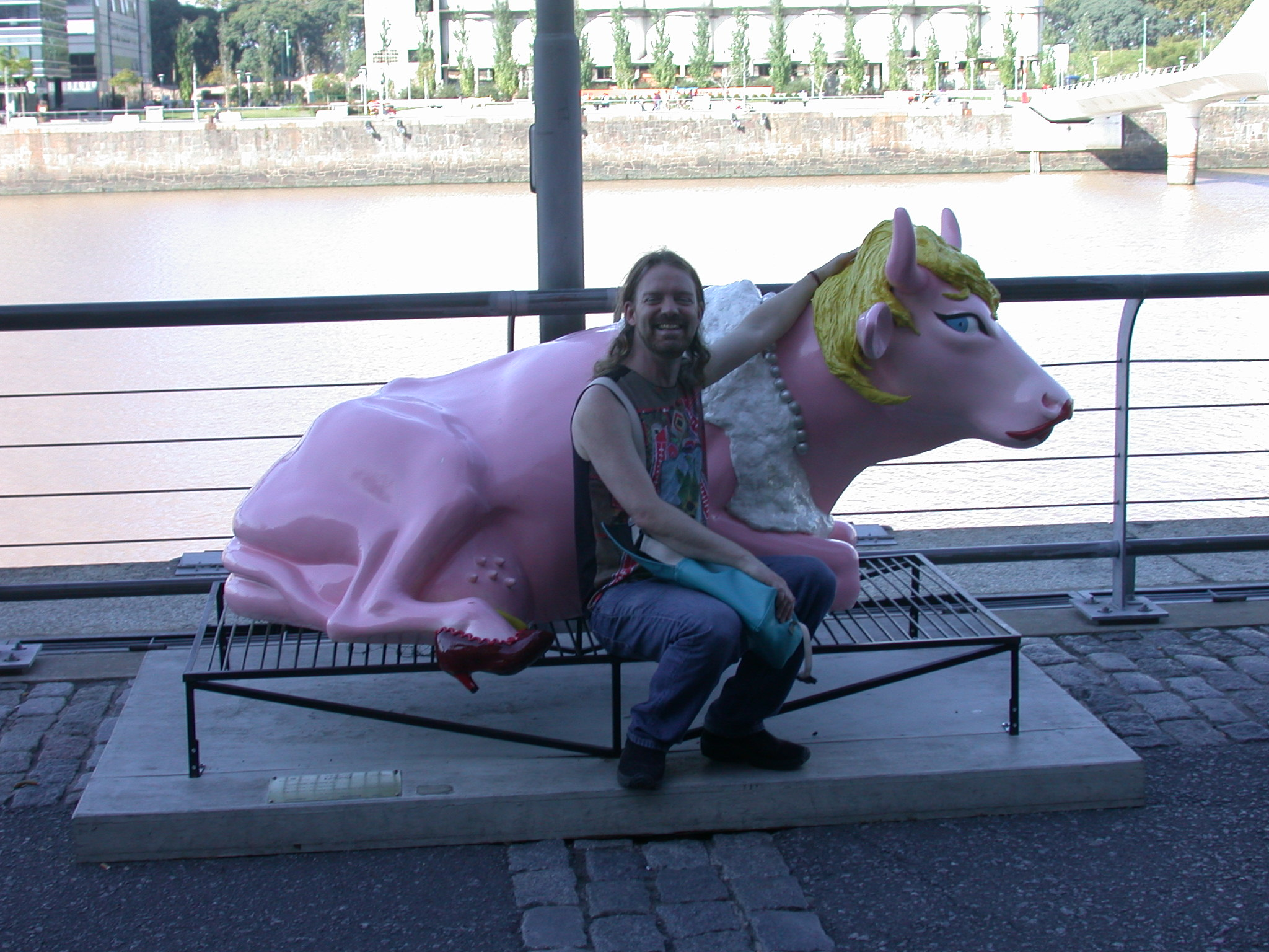 My Girlfriend Was a Cow in Puerto Madero, Buenos Aires, Argentina