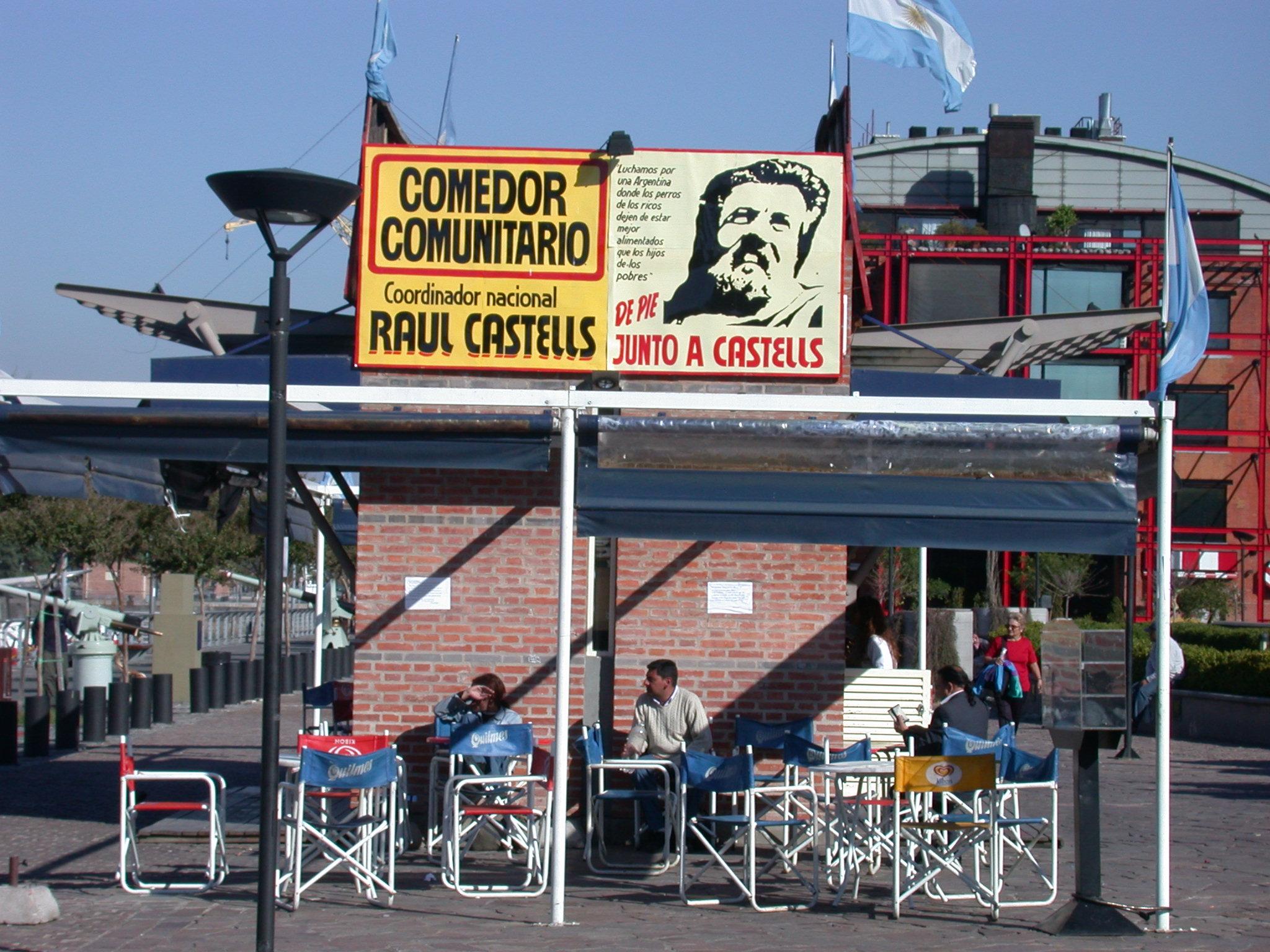 Comedor de Piqueteros, Puerto Madero, Buenos Aires, Argentina