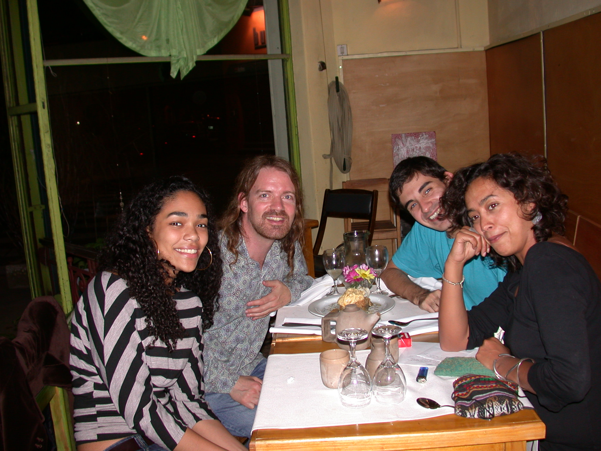 Edgardo, Will, and Friends, Vegetarian Bio Restaurant, Palermo Viejo, Buenos Aires, Argentina