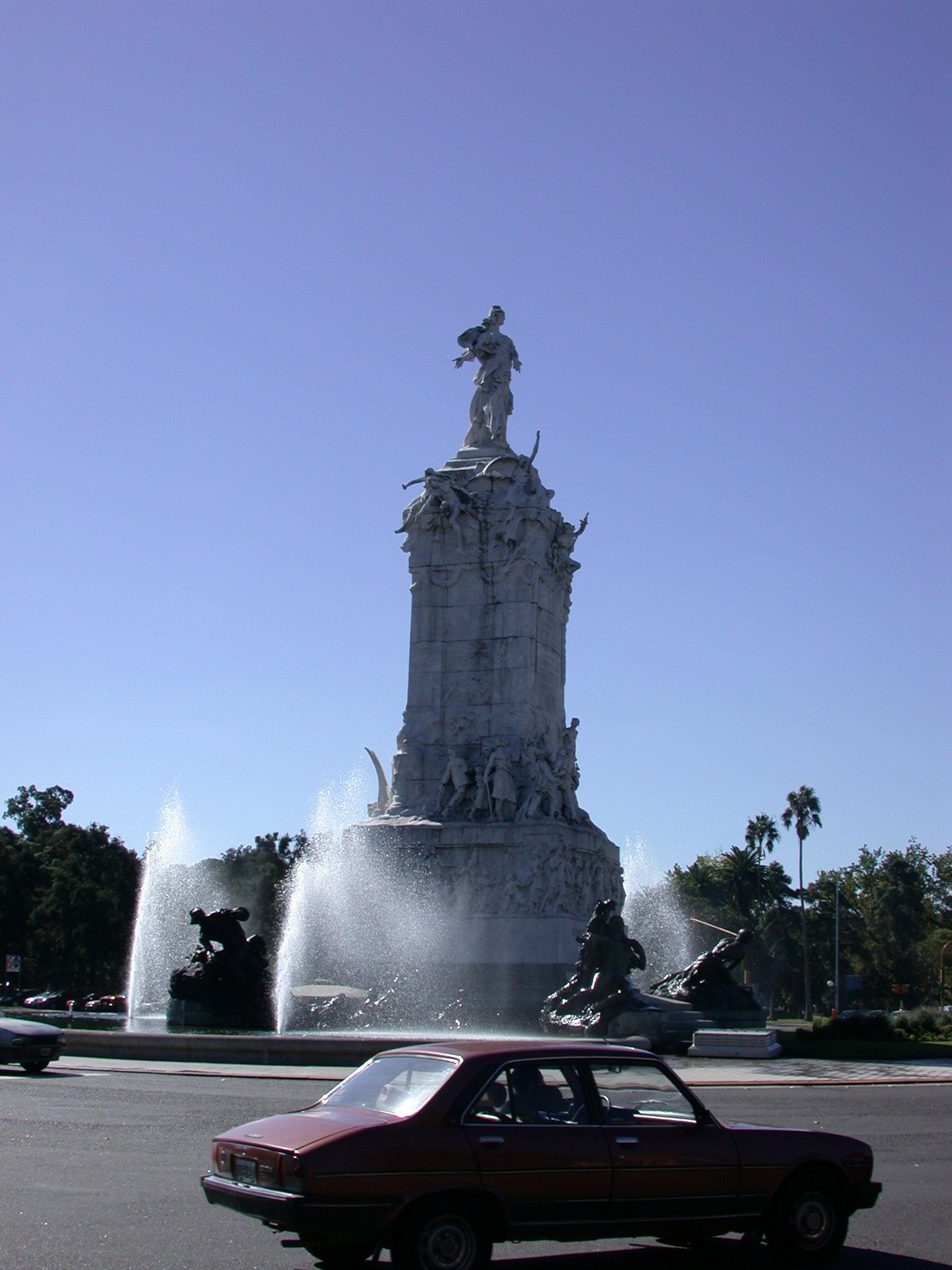 Monument and Fountain Near Zoo, Buenos Aires, Argentina