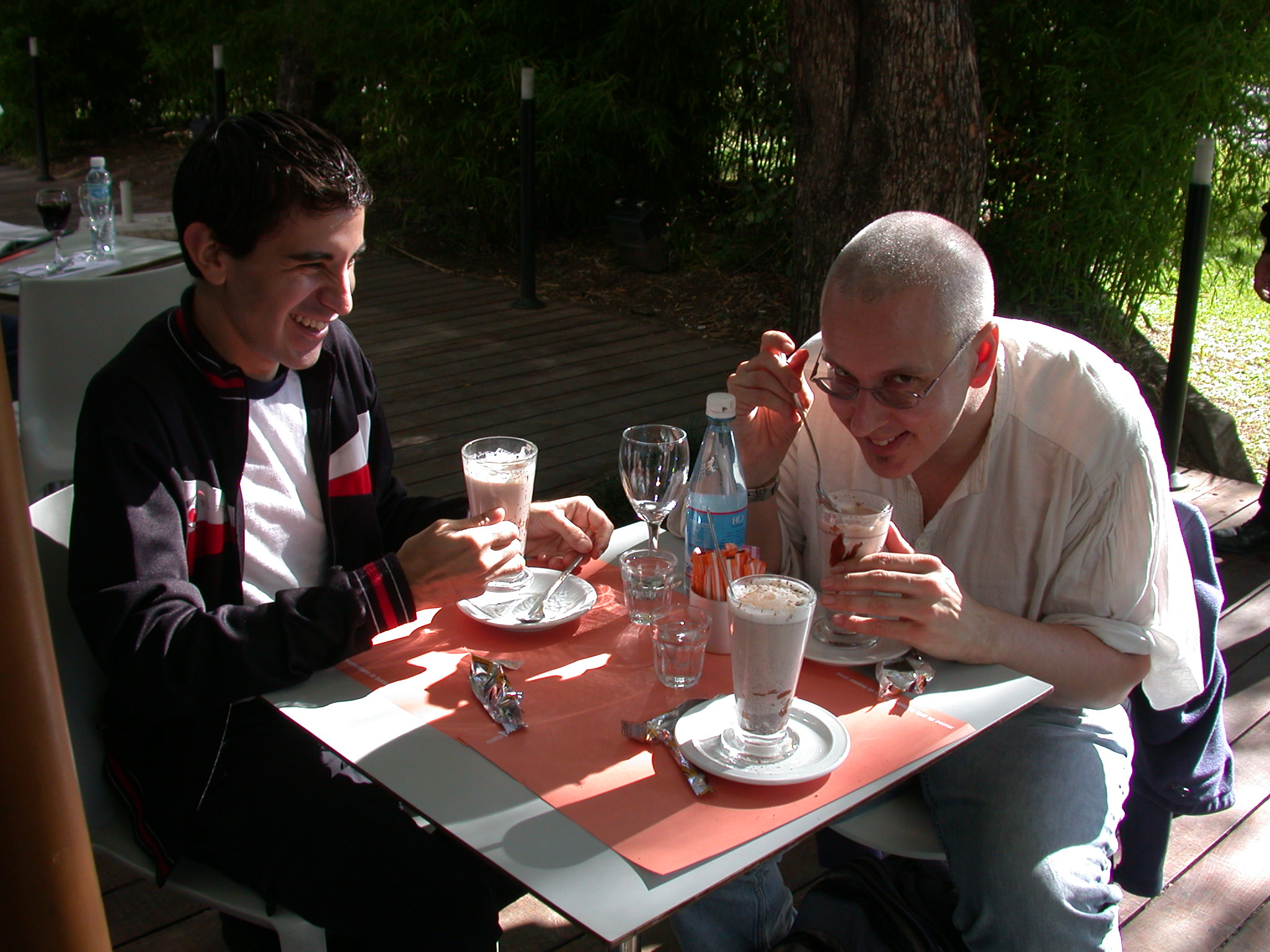 Edgardo and Jim e, MALBA Museum Cafe, Buenos Aires, Argentina