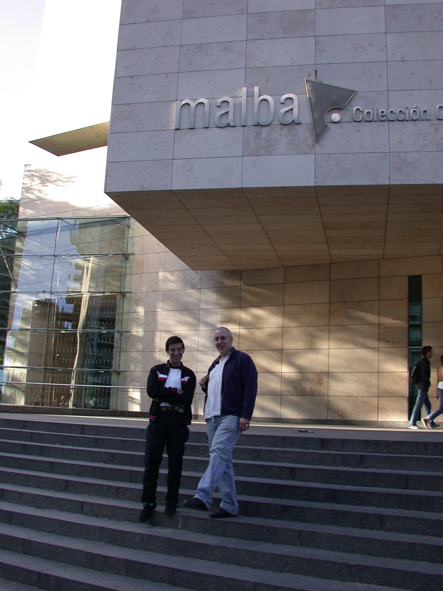 Edgardo and Jim e, MALBA Museum, Buenos Aires, Argentina