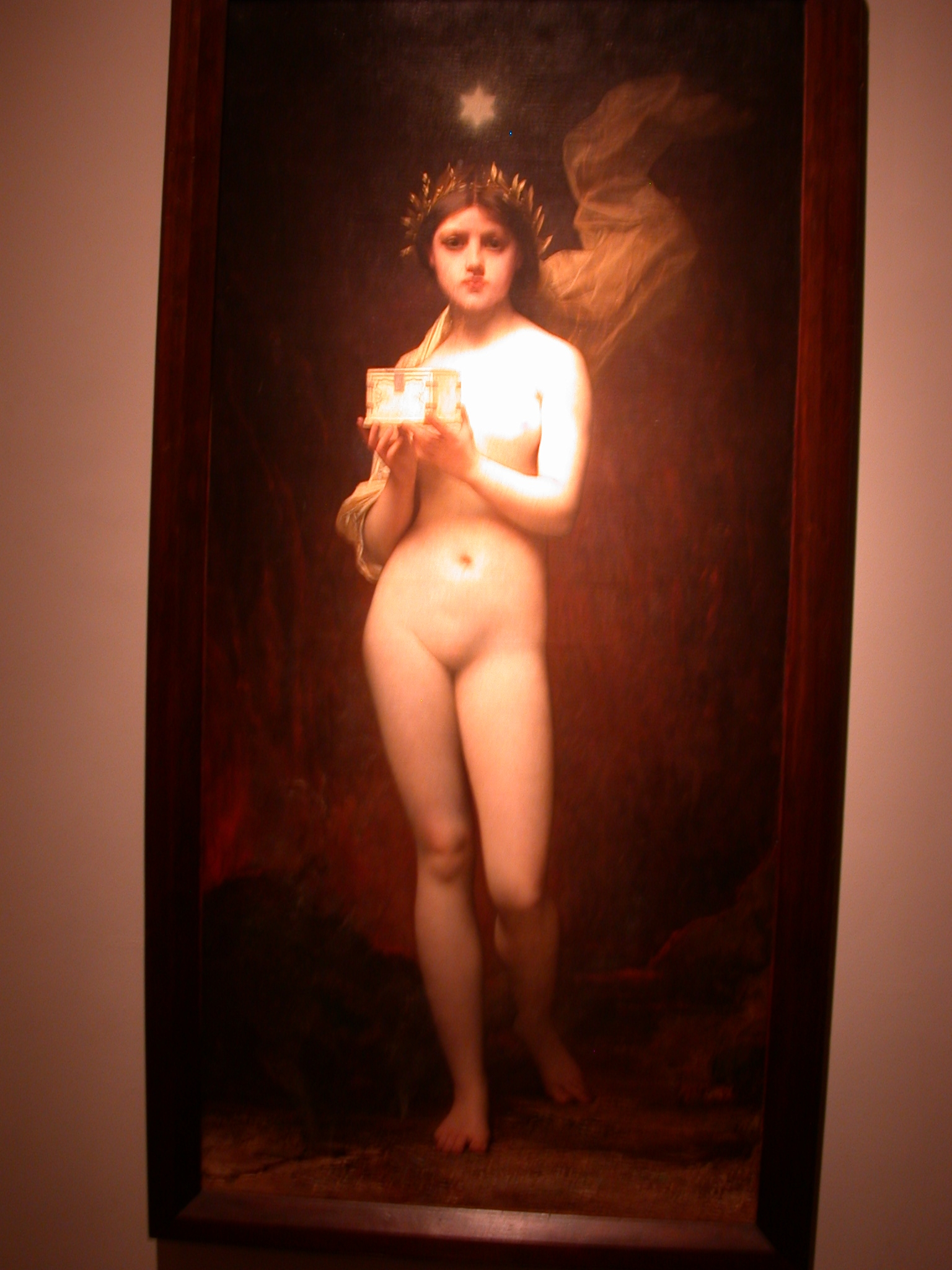 Pandora, Jules Joseph Lefebvre, Museo de las Bellas Artes, Buenos Aires, Argentina