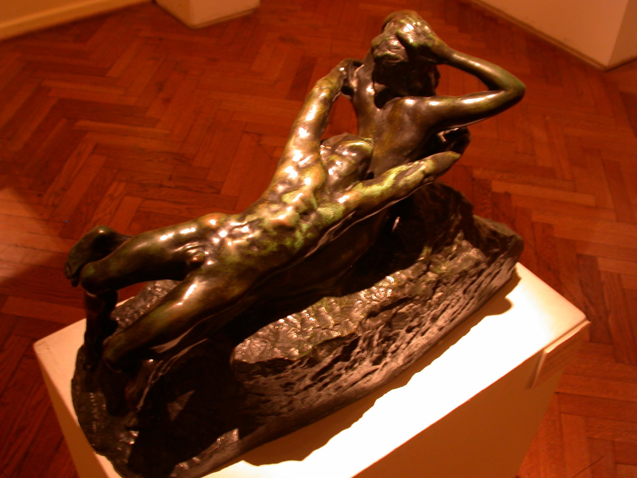 Amor Fugit, Rene Francois Auguste Rodin, Museo de las Bellas Artes, Buenos Aires, Argentina