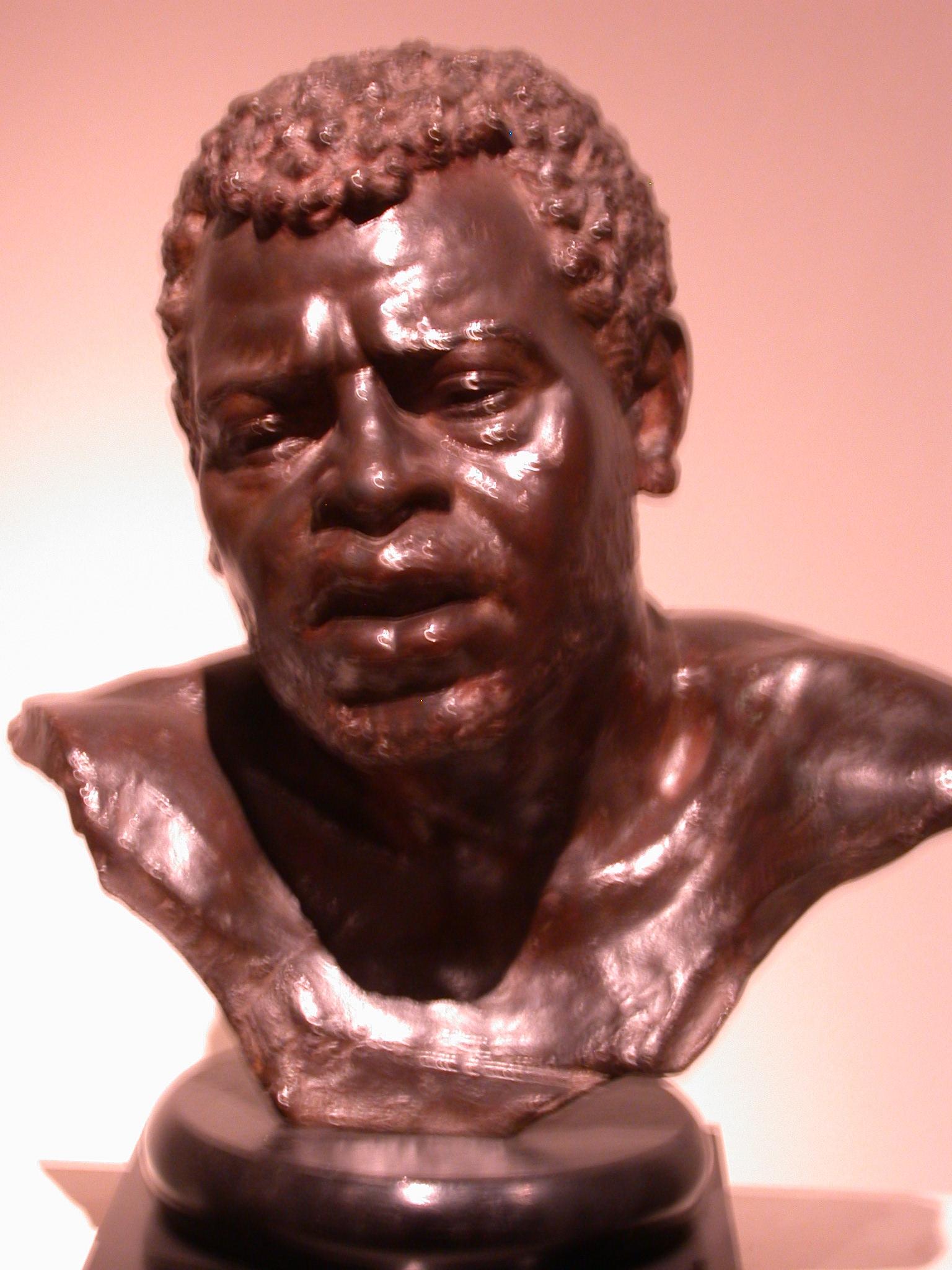 Cabeza de Esclavo, Bust of a Slave, Francisco Coiferata?, Museo de las Bellas Artes, Buenos Aires, Argentina