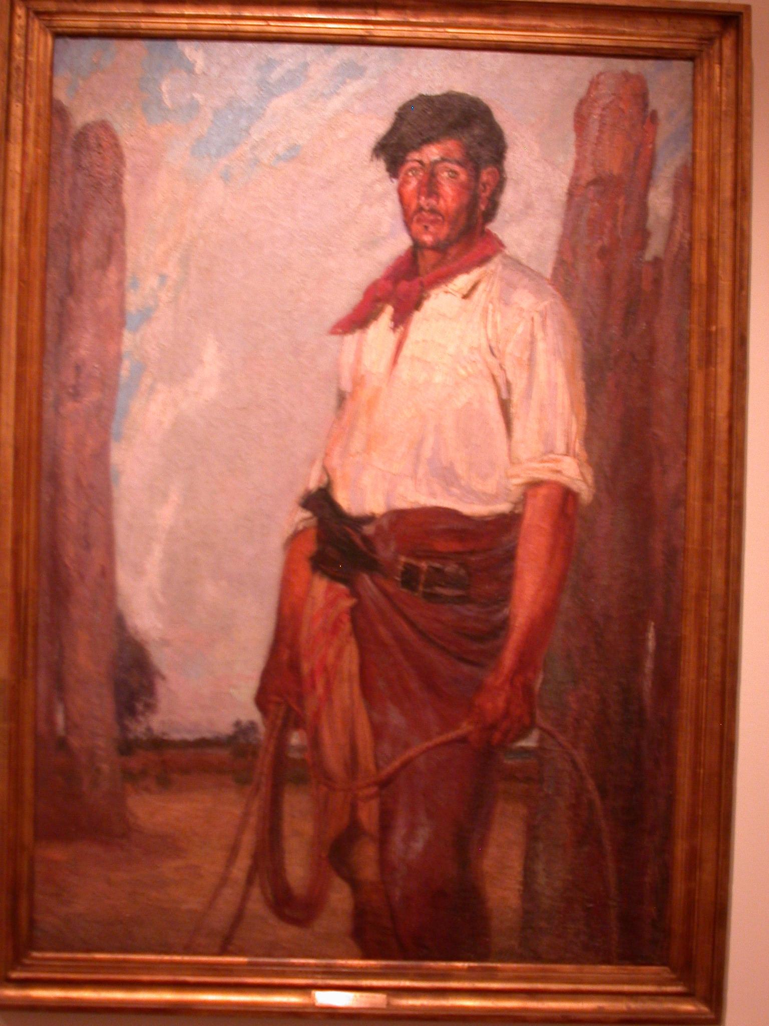 El Pialador, Cowboy Series, Cesareo Bernaldo de Quiros, Museo de las Bellas Artes, Buenos Aires, Argentina