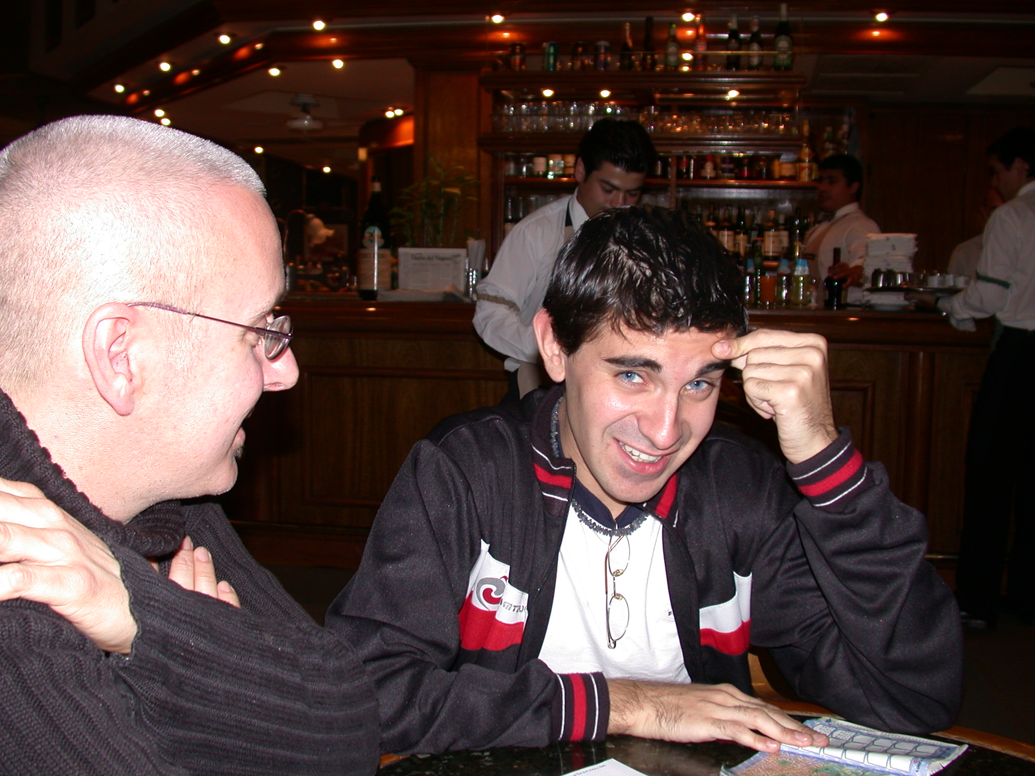 Jim e and Edgardo, La Biella Cafe, Buenos Aires, Argentina