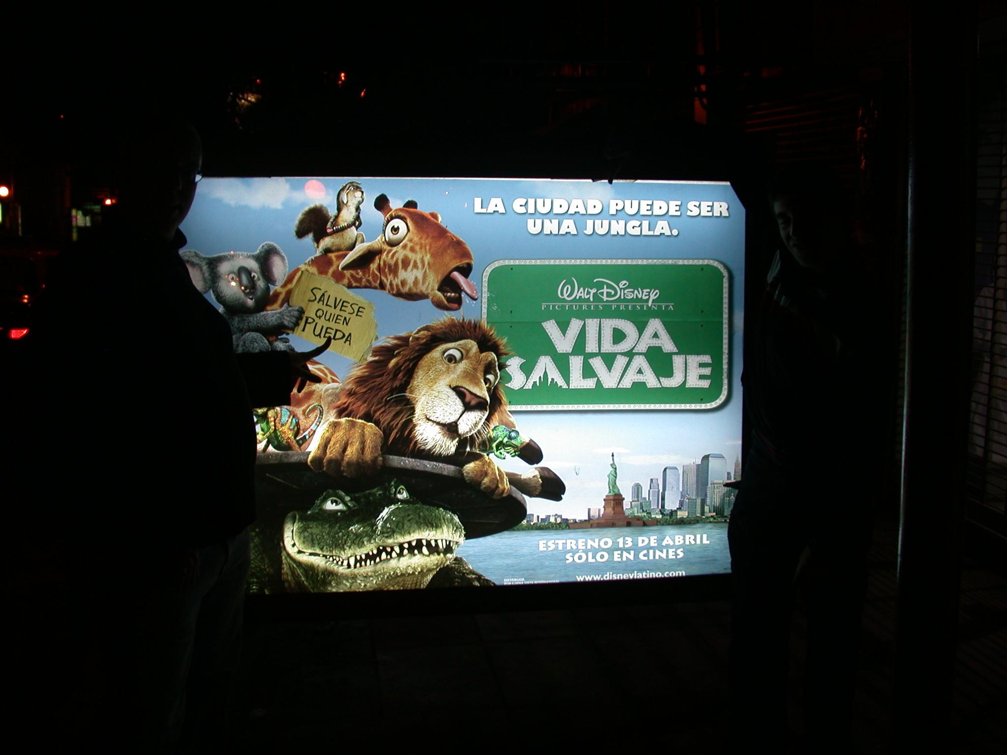 Ad for Disney Film, Buenos Aires, Argentina