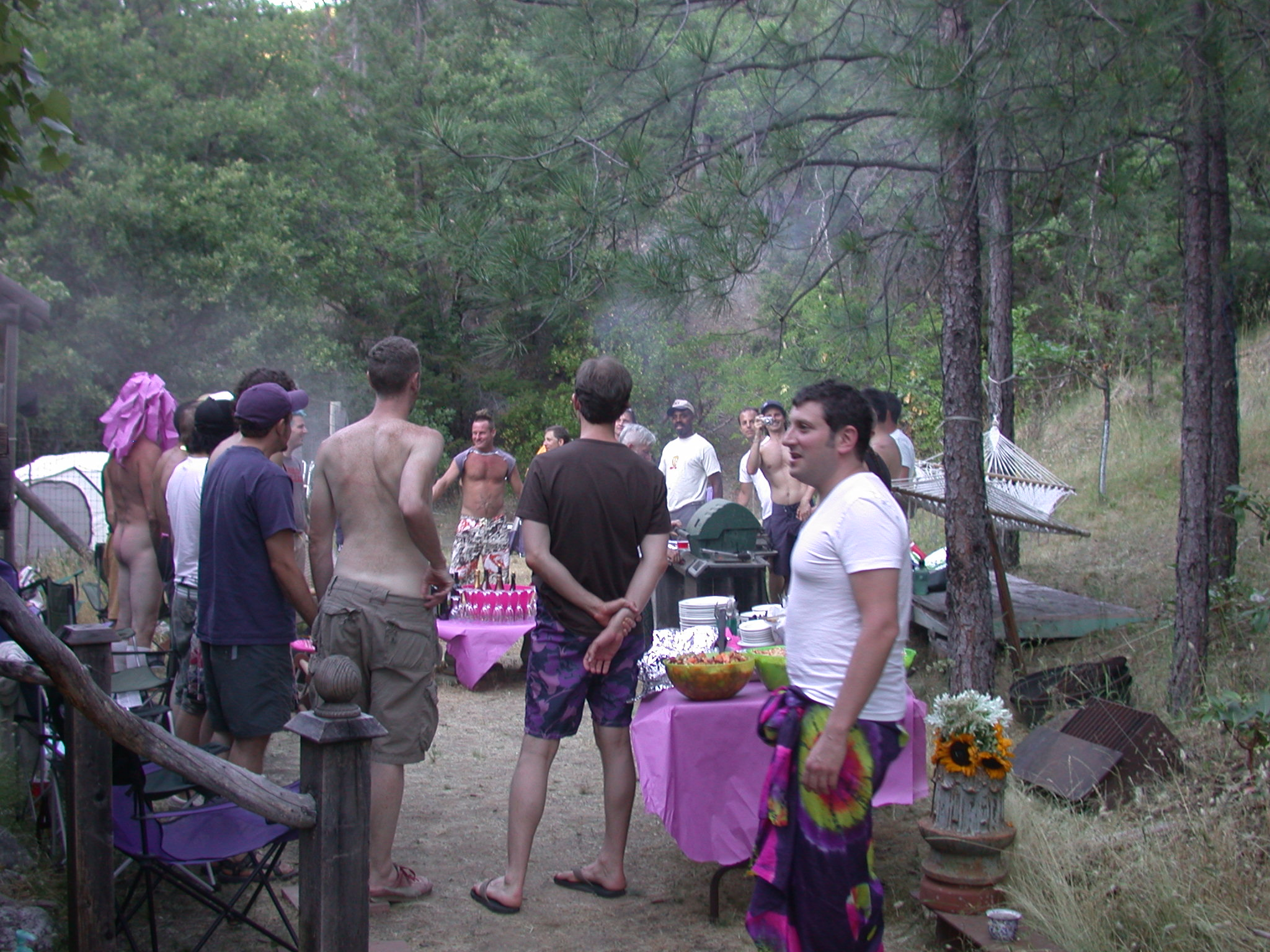Circle Before Meal Outside Covelo Cabin