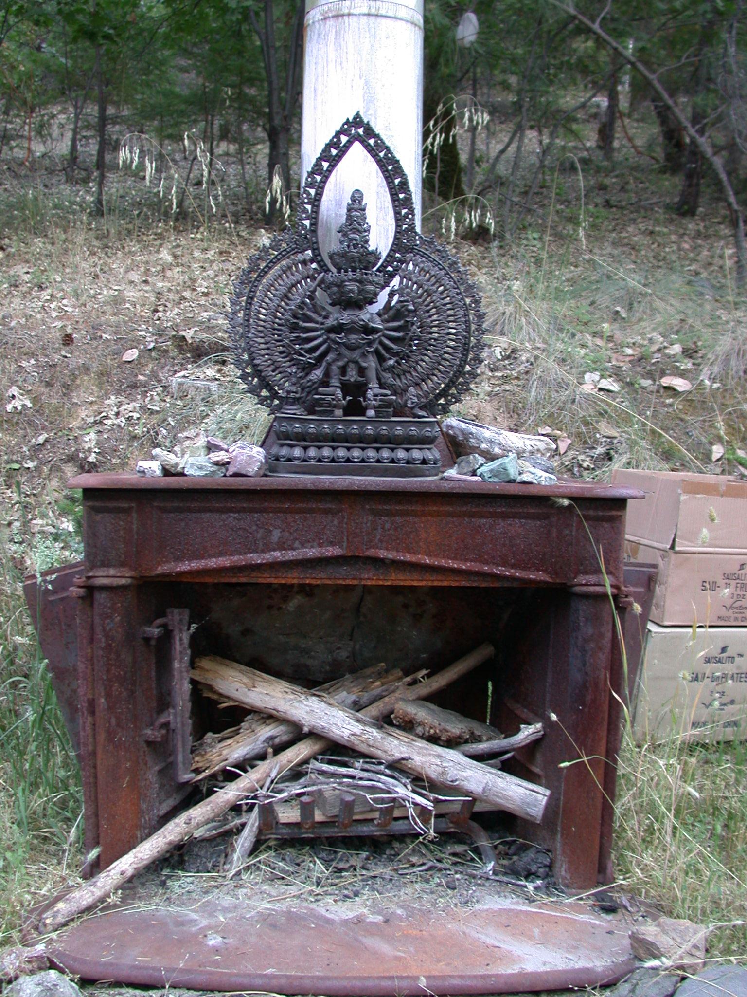 Stove Altar Near Covelo Cabin