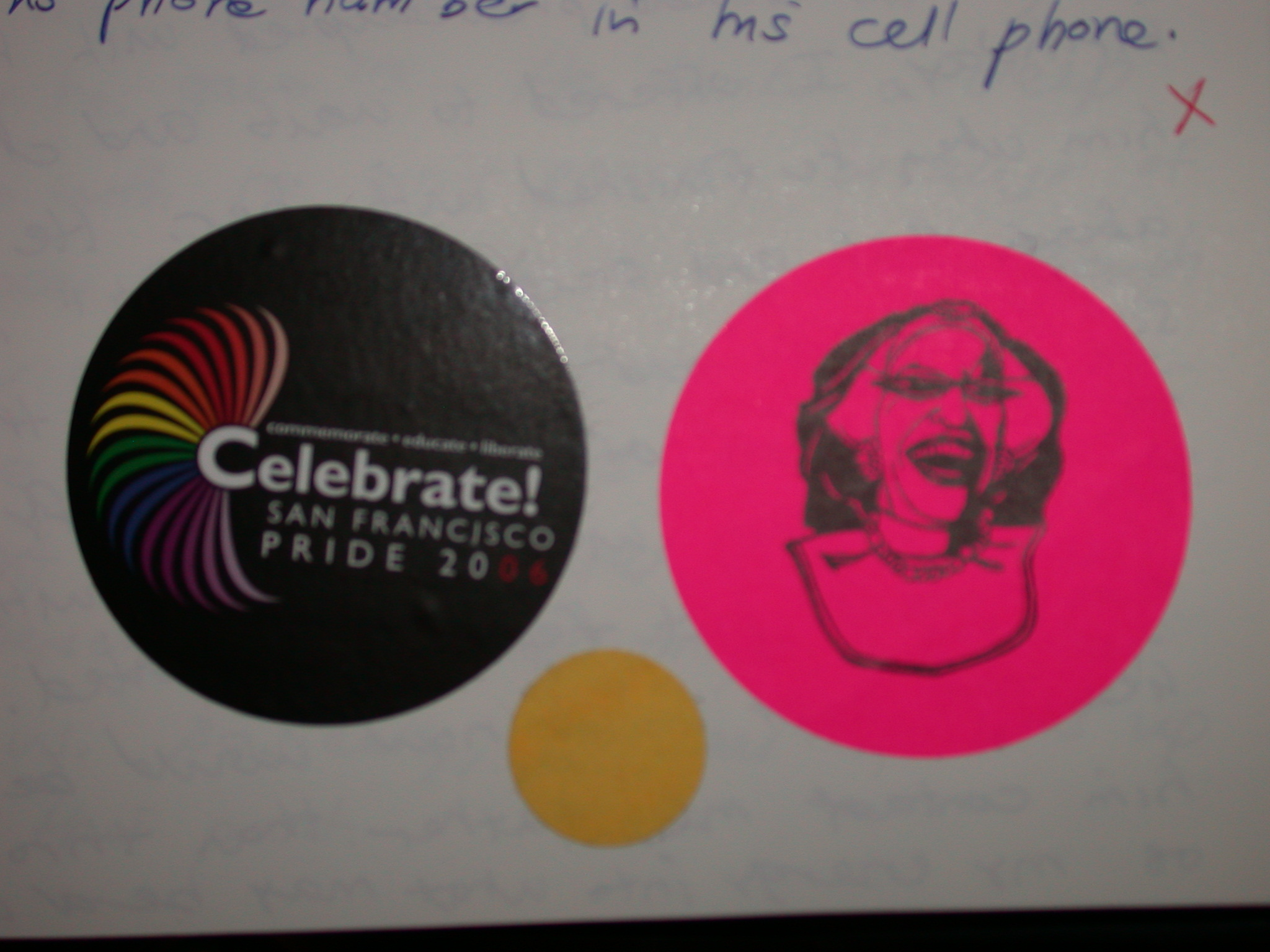 Queer Freedom Day Stickers for June 2006 - Pink Party, Pride, and Mikes on Bikes