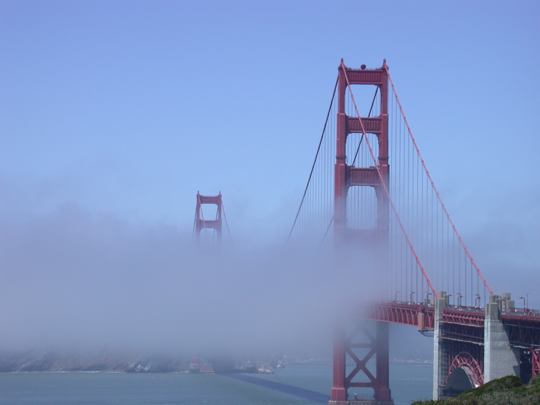 Golden Gate Bridge in Partial Fog