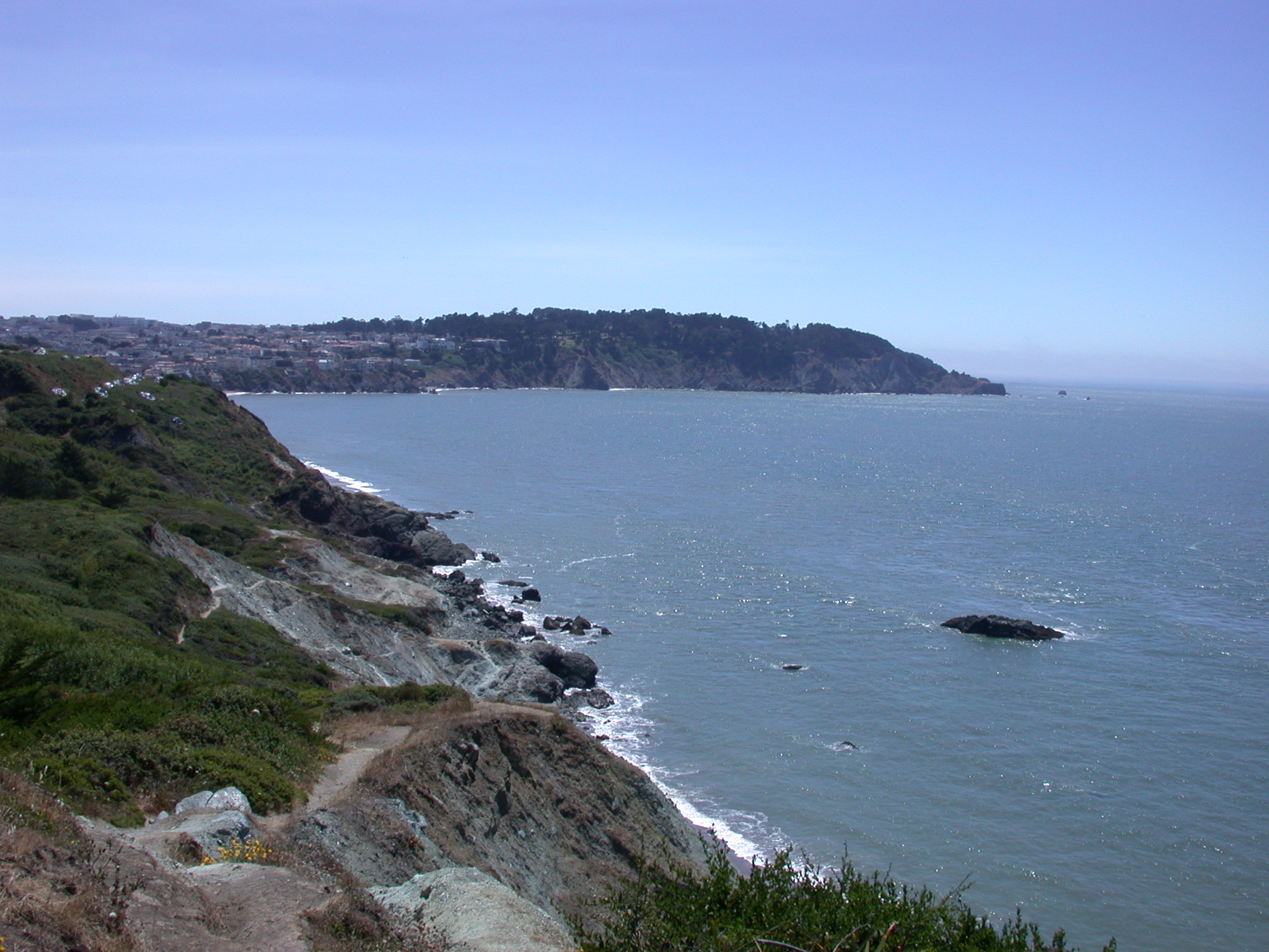 Ocean Coastline South of San Francisco Bay