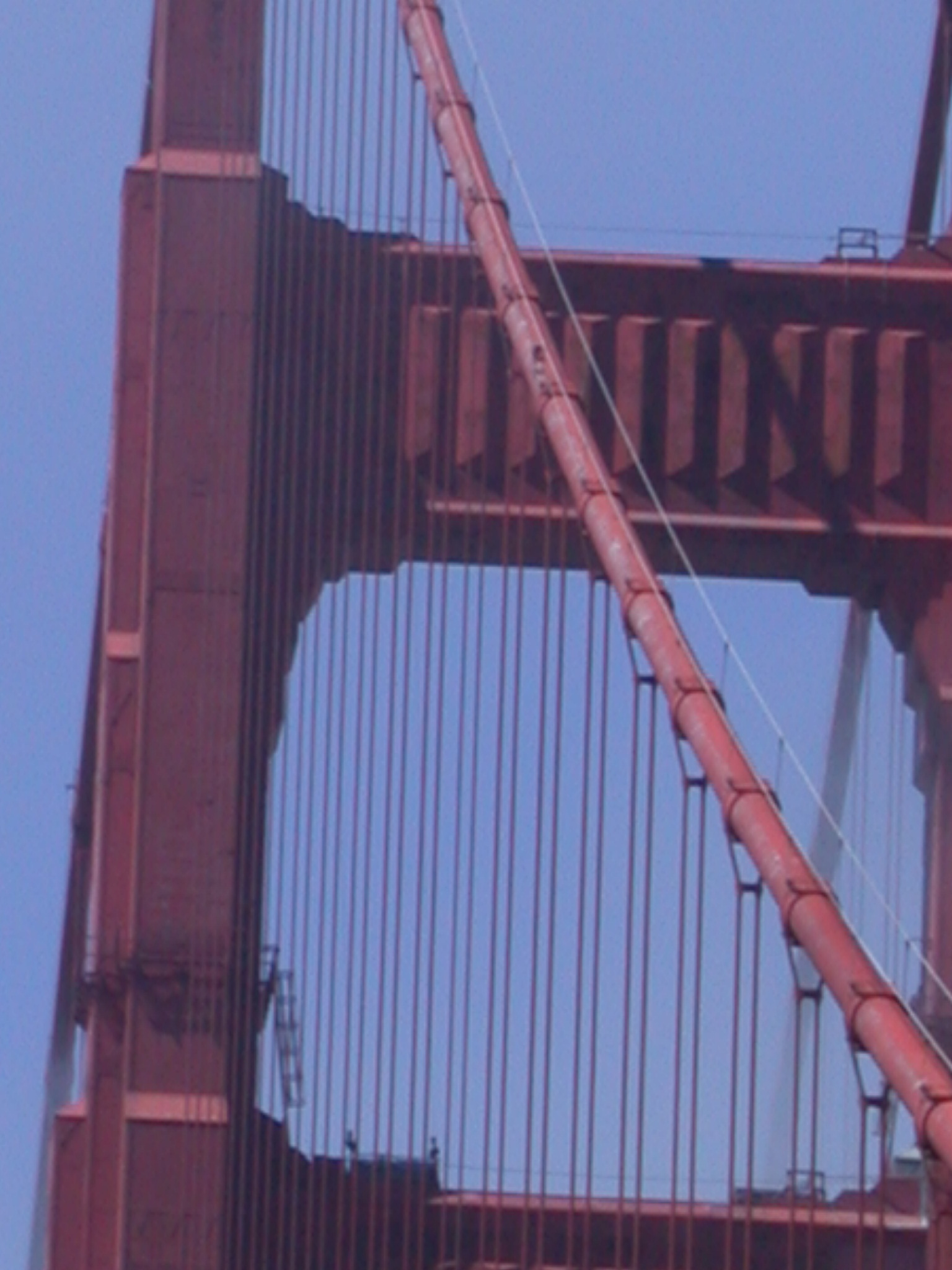 Closeup of Golden Gate Bridge