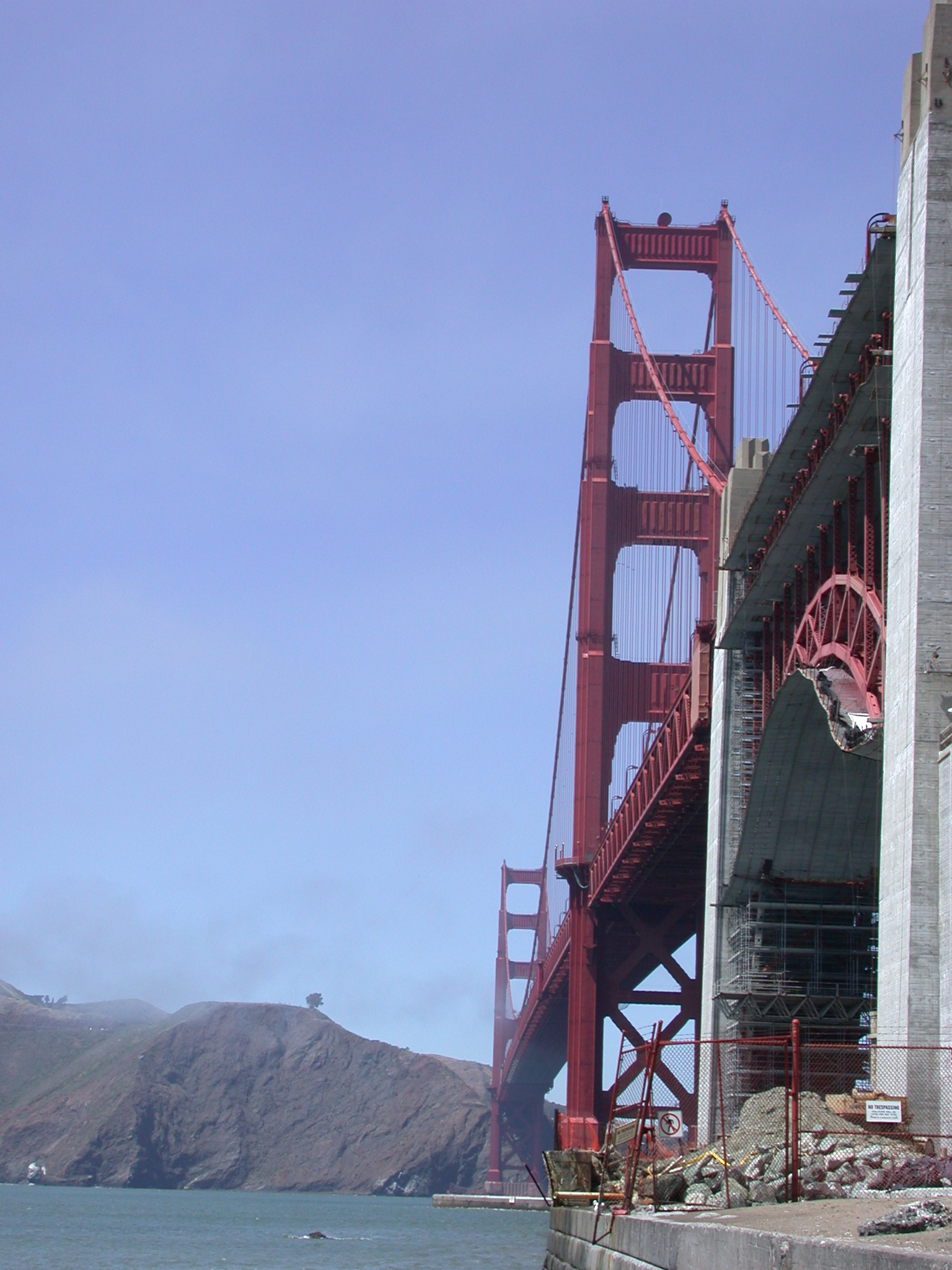 Golden Gate Bridge From Its Base