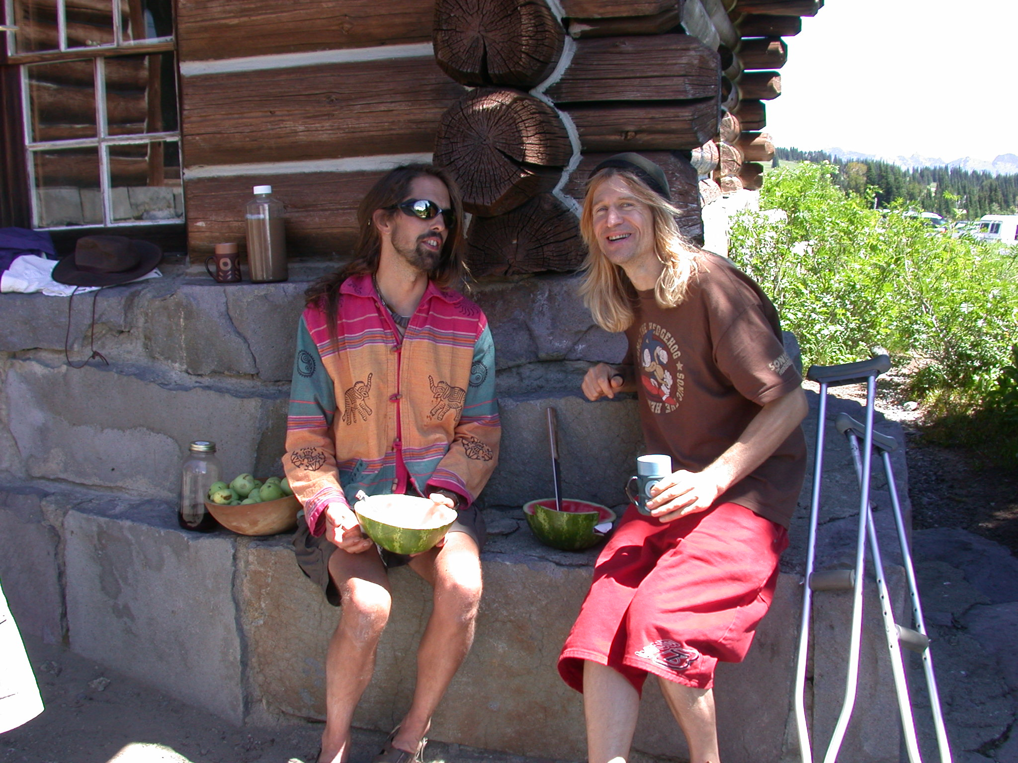 Fruitboy and Kirby at Sunrise Camp Employee Residence on Mount Rainier
