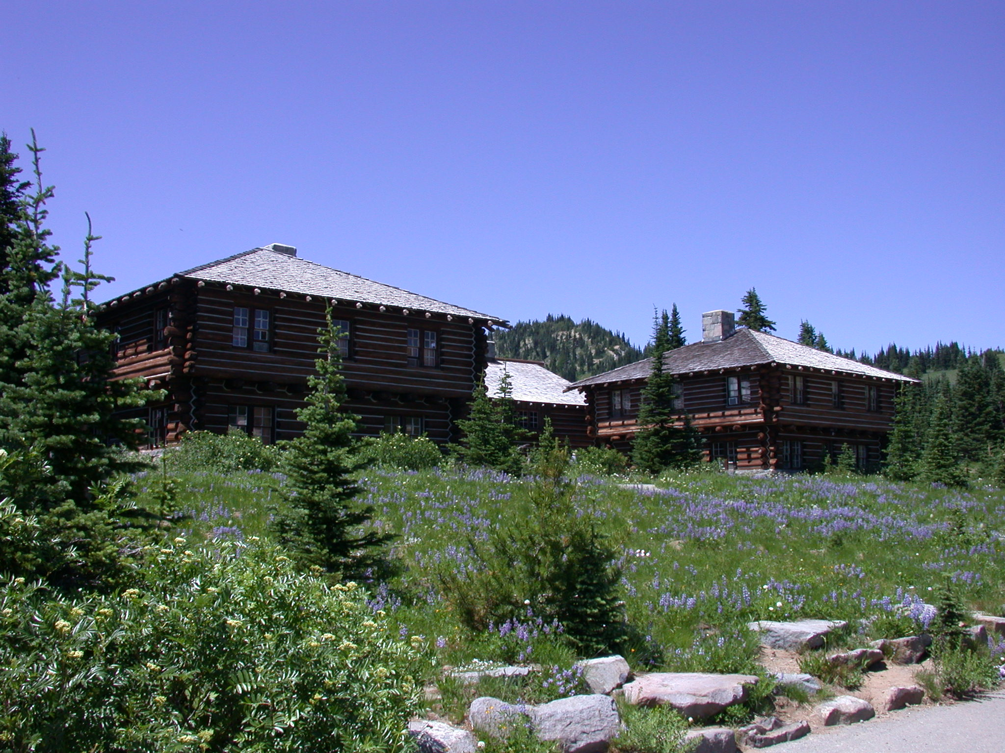 Visitor Center and Employee Residences at Sunrise Camp on Mount Rainier