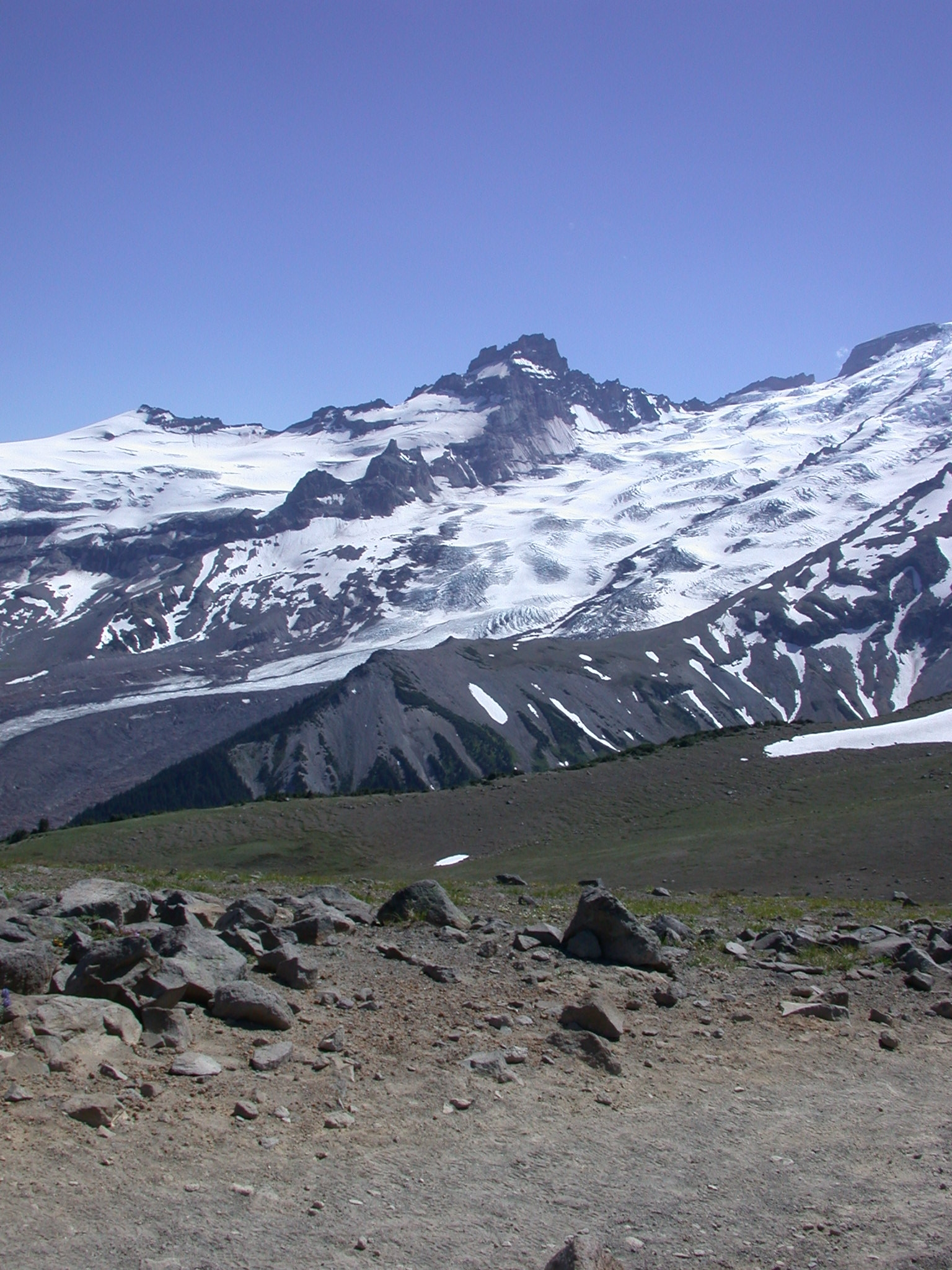 View of Another Peak From Burroughs Peak II on Mount Rainier
