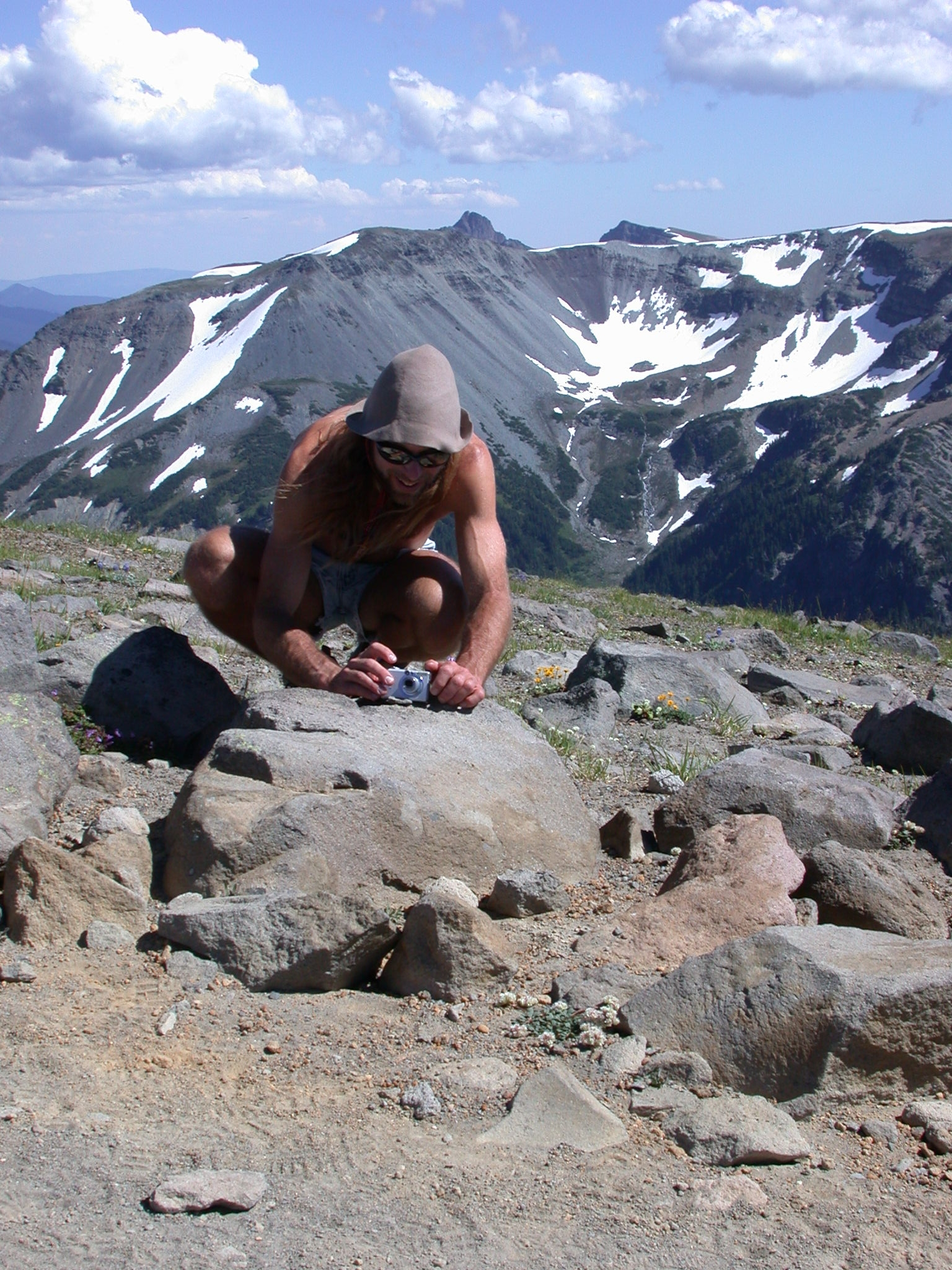 Sierra Prepping Photo Shoot on Burroughs Peak I of Mount Rainier