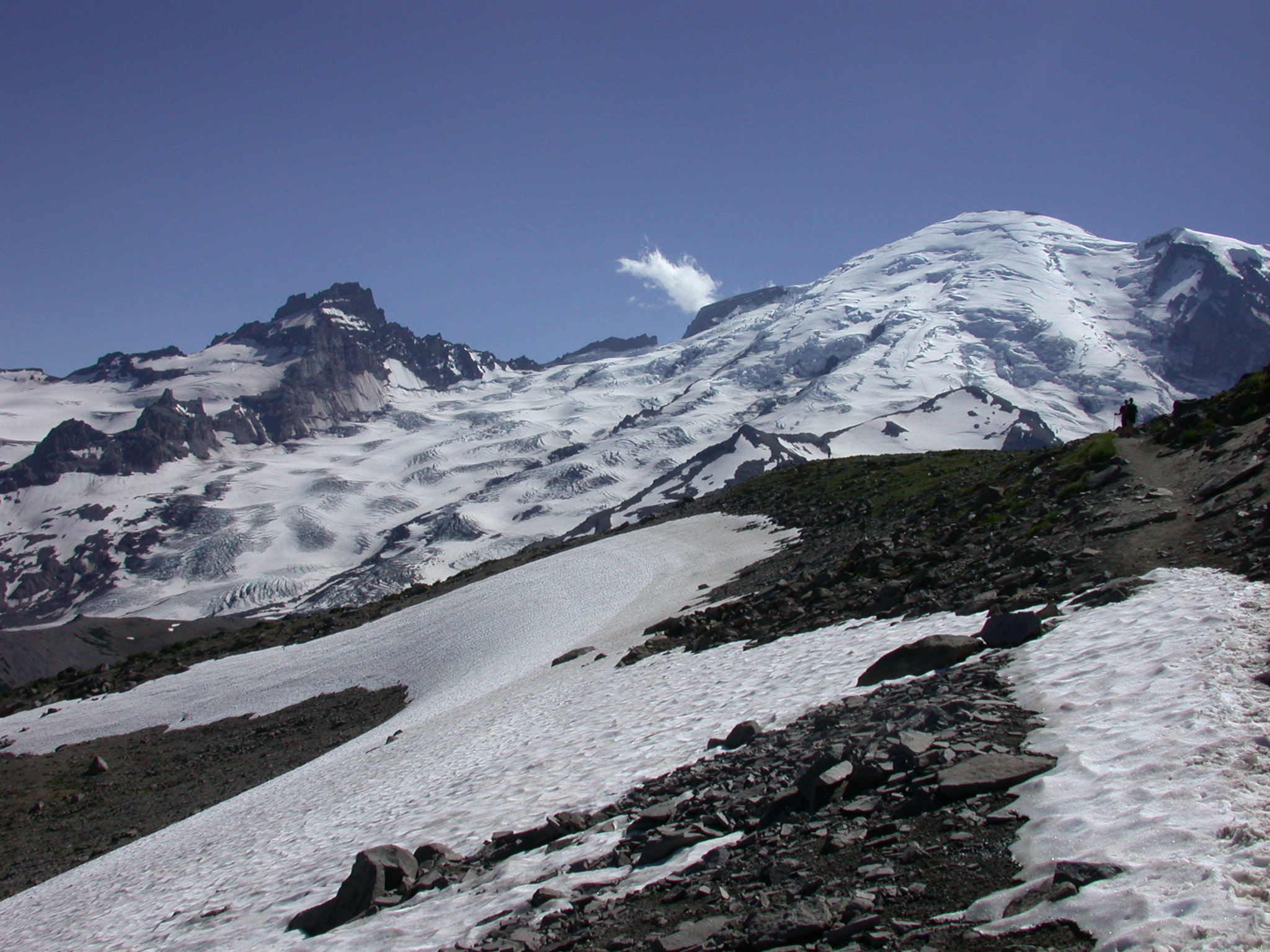 More Snow on Trail From Burroughs Peak I to Burroughs Peak II on Mount Rainier
