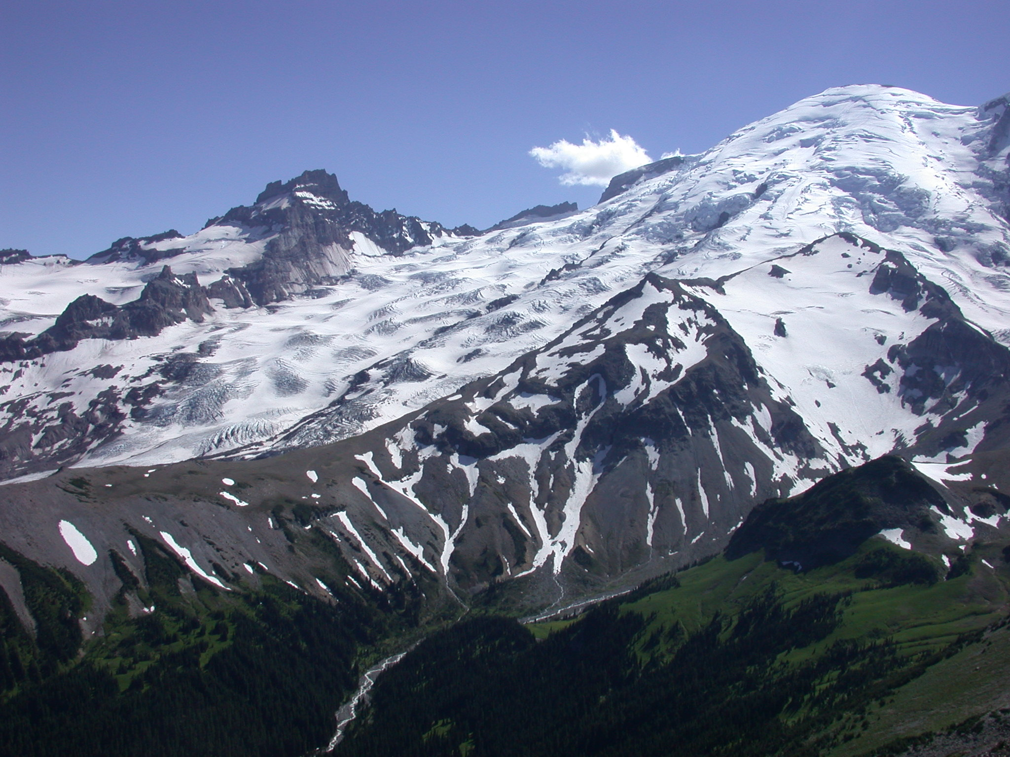 View of Mount Rainier Summit From Burroughs Peak II