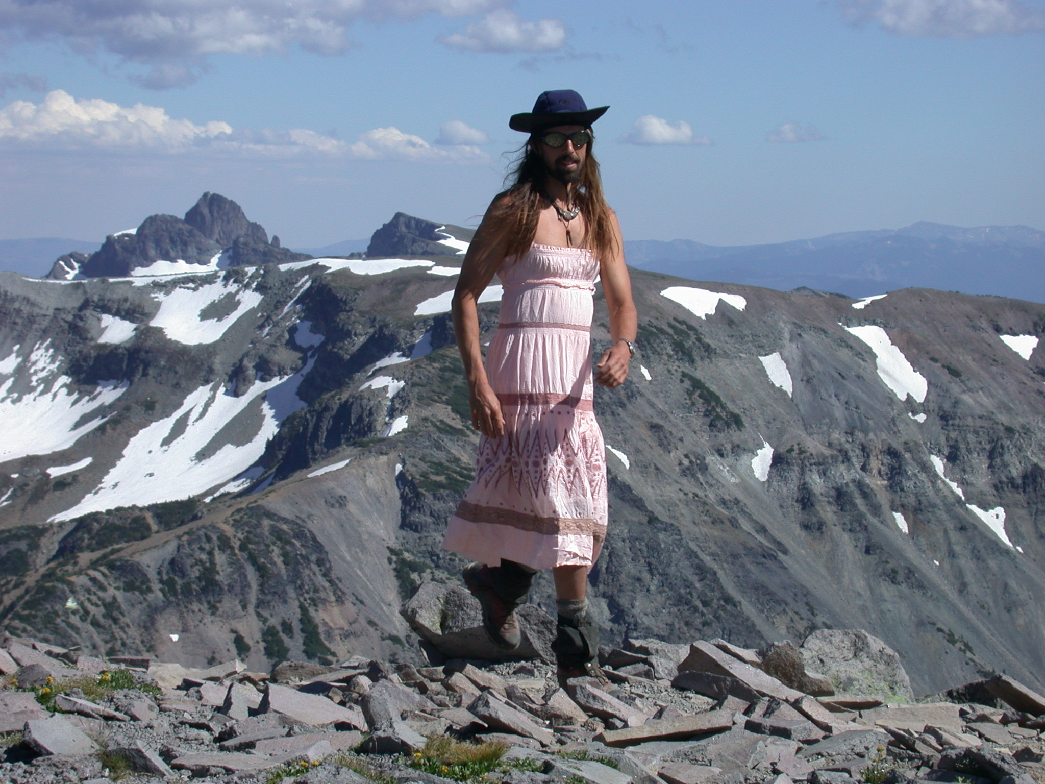 Fruitboy in Dress on Burroughs Peak II of Mount Rainier