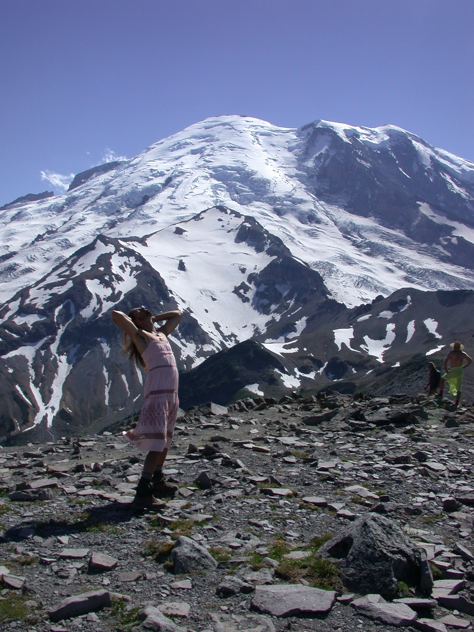 Fruitboy in Dress Takes It All In on Burroughs Peak II of Mount Rainier
