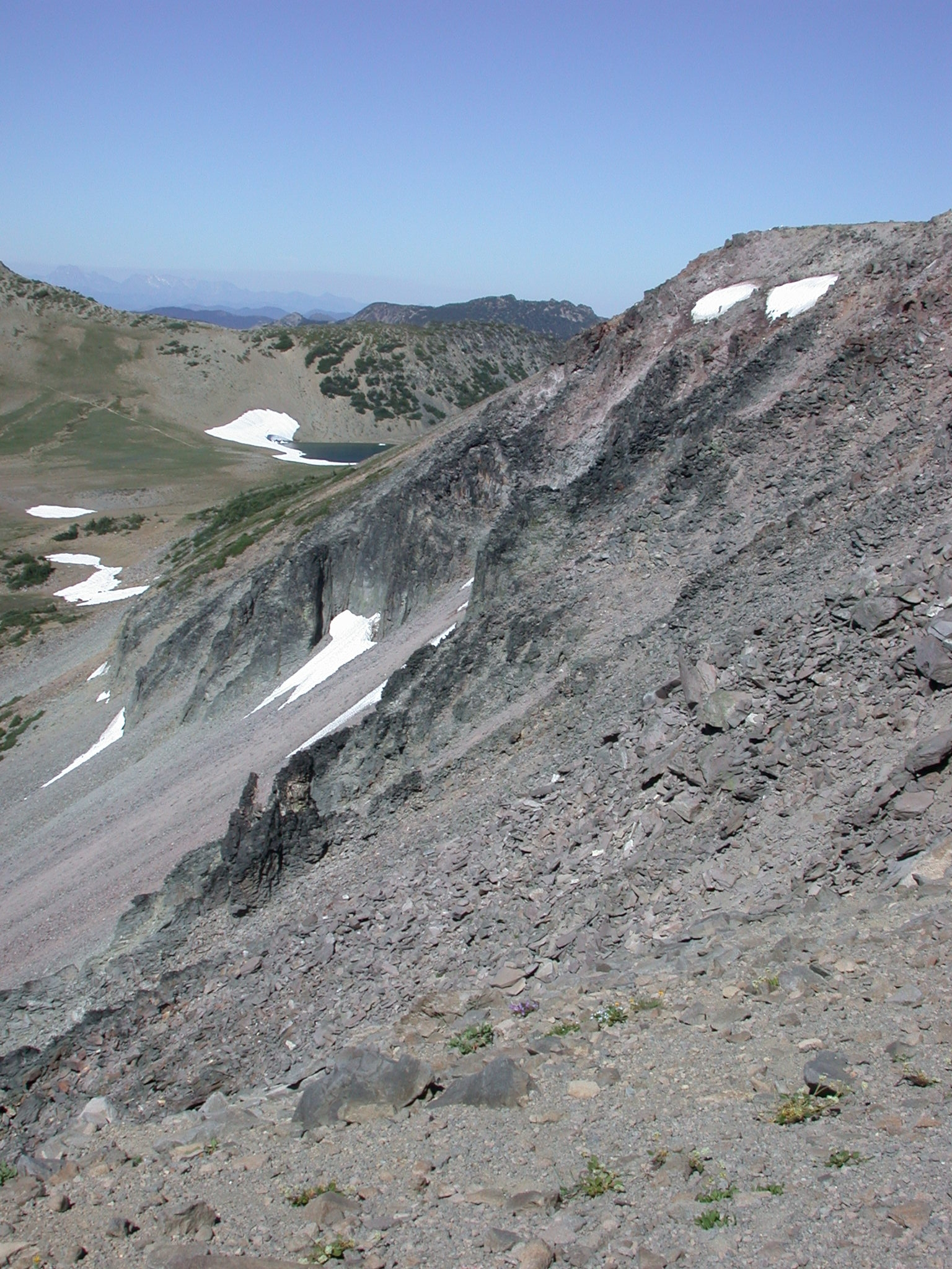 Rock Slide on Descent From Burroughs Peak II on Mount Rainier