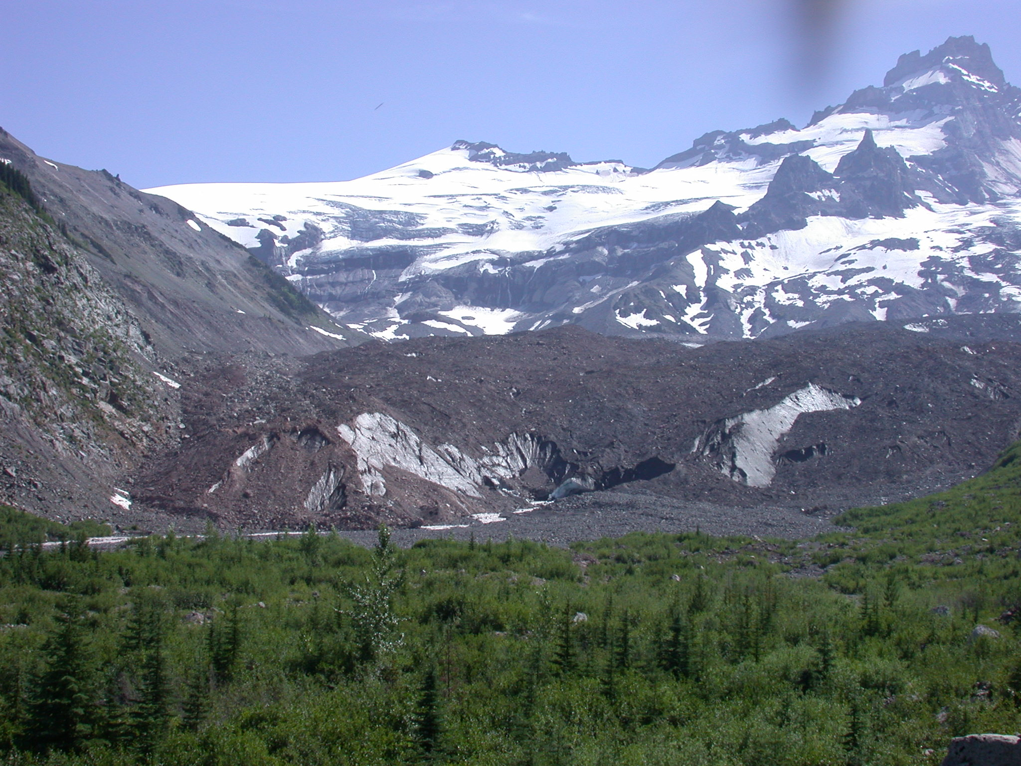View of Glacier on Mount Rainier