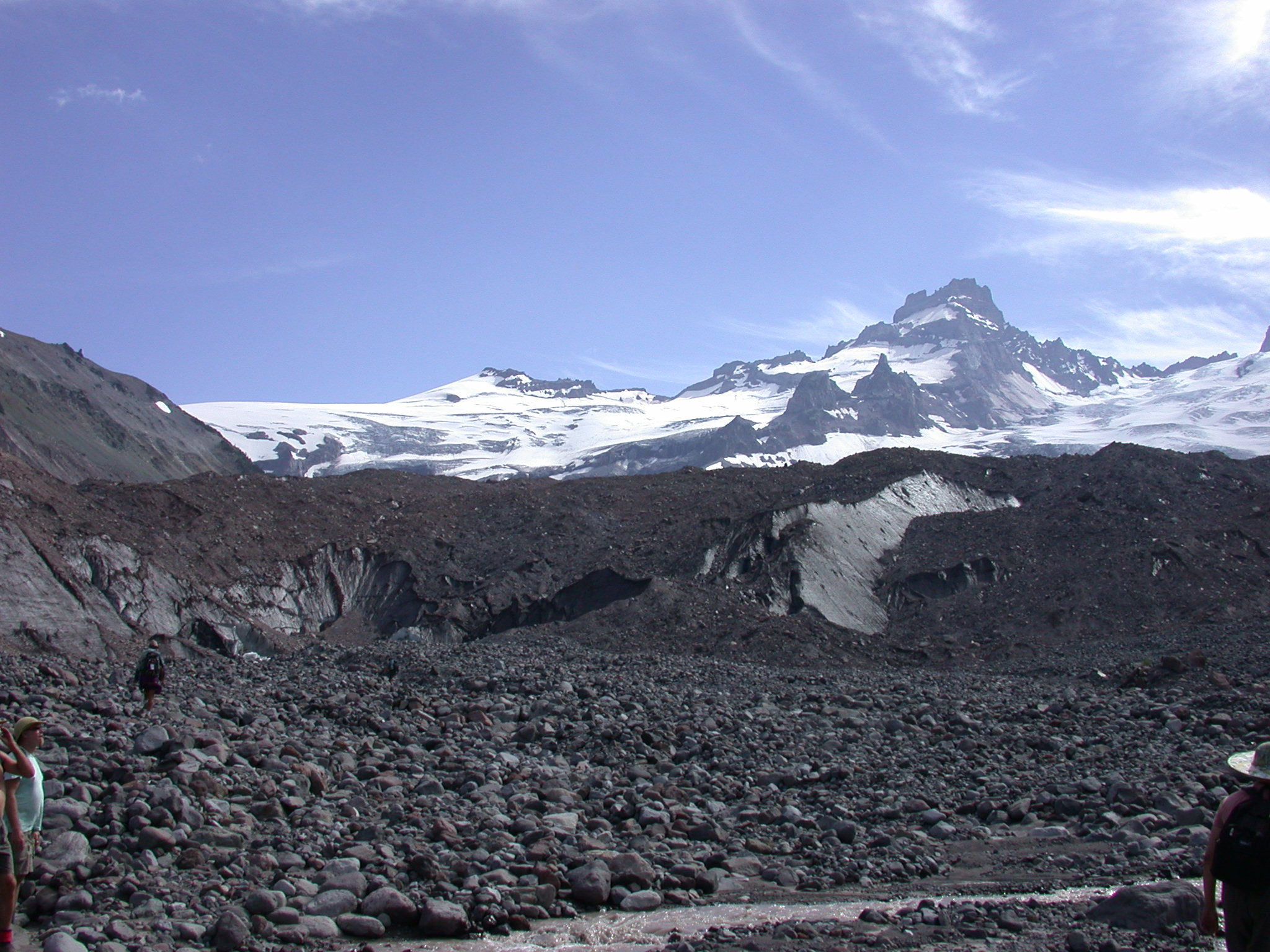 Base of Glacier on Mount Rainier