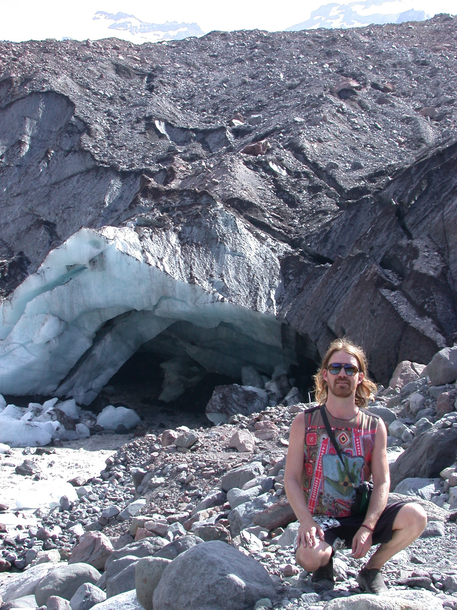 Stardust and Alabaster Ice Cave at Base of Glacier on Mount Rainier