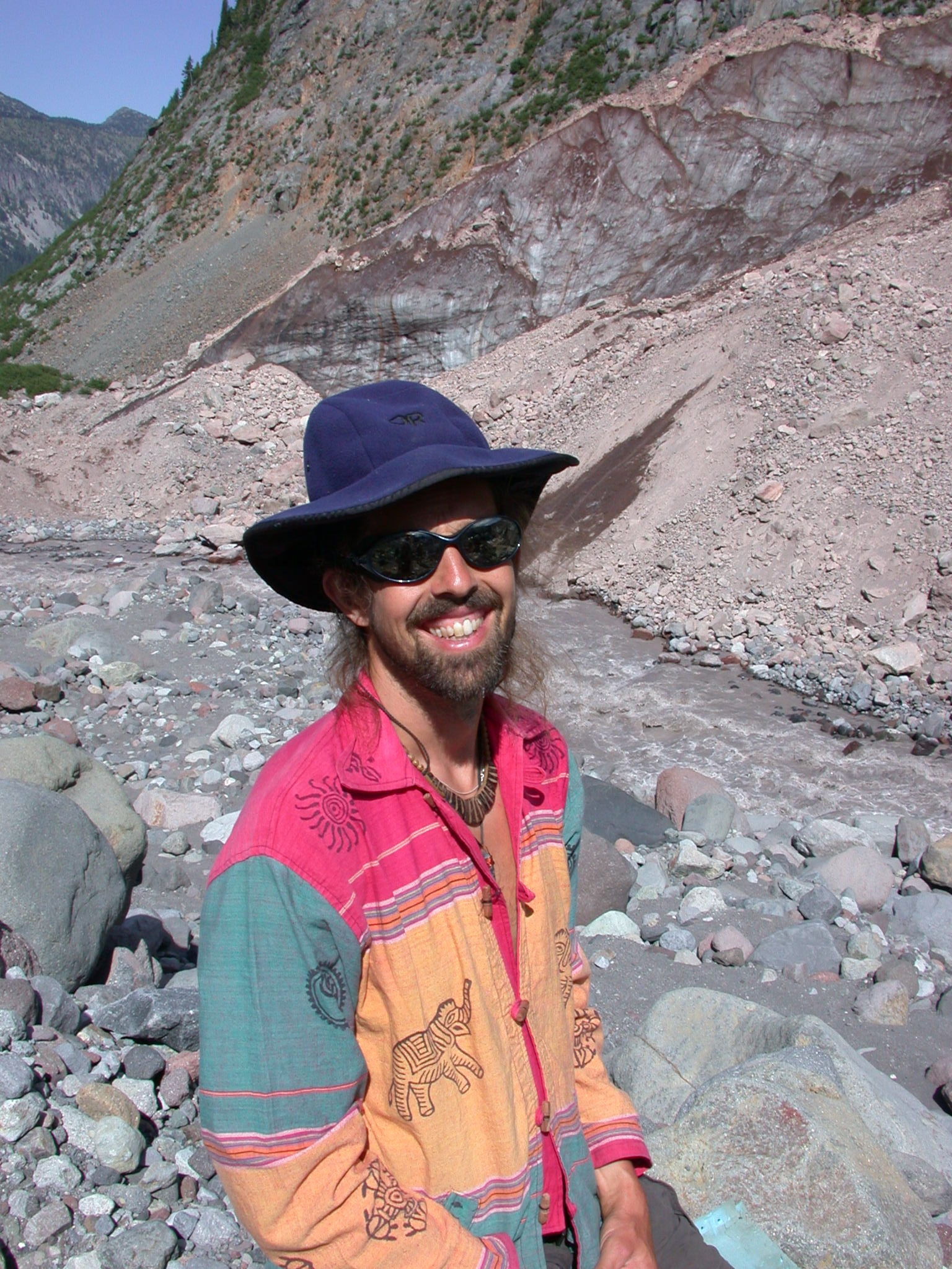 Fruitboy in Glacial Valley of Mount Rainier