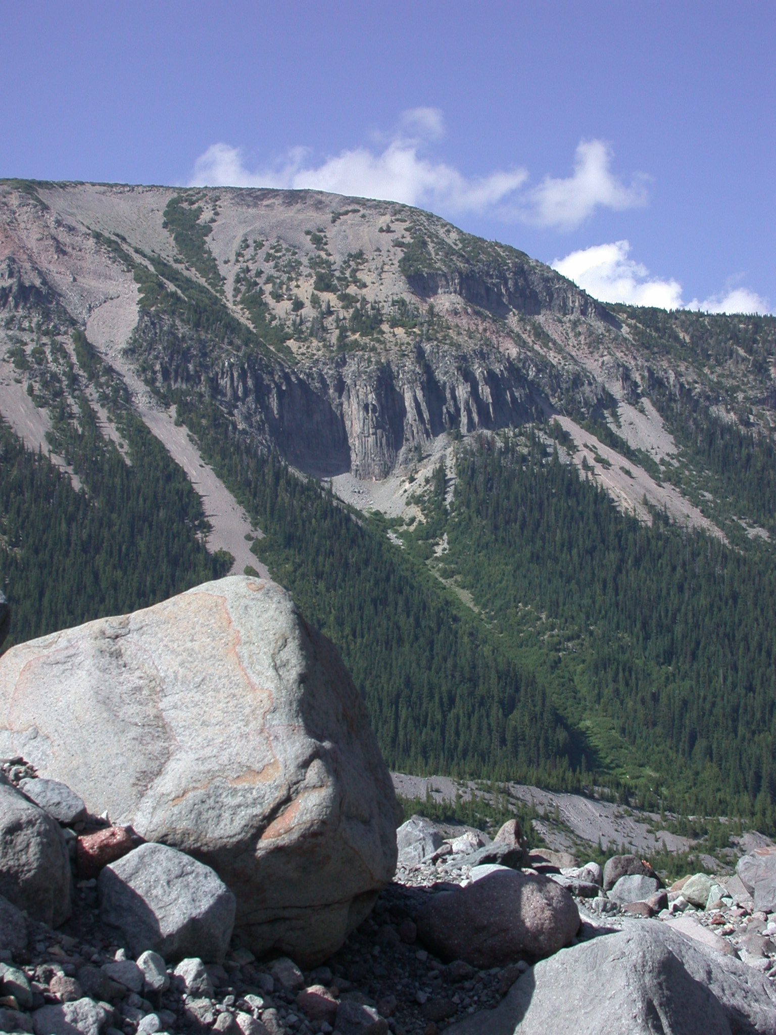 Another View of the Owl Outcrop on the Glacial Canyon of Mount Rainier