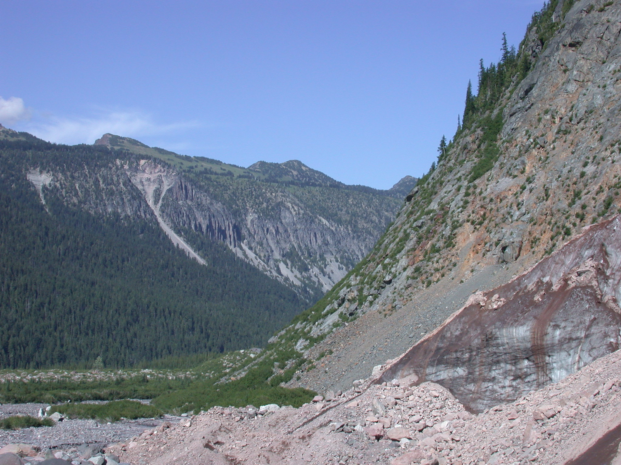 Glacial Canyon on Mount Rainier