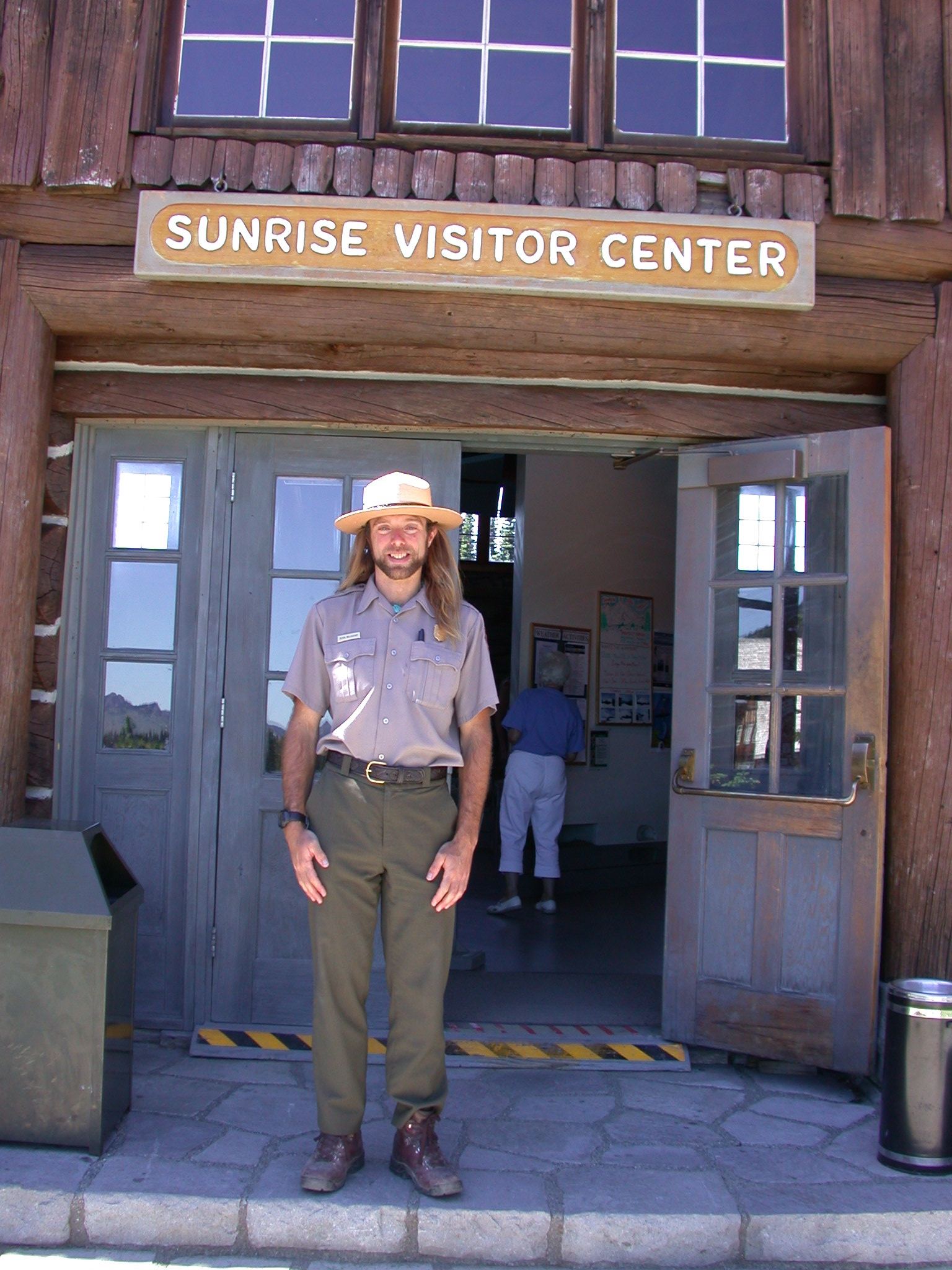 Ranger Sierra at Sunrise Camp Visitor Center on Mount Rainier