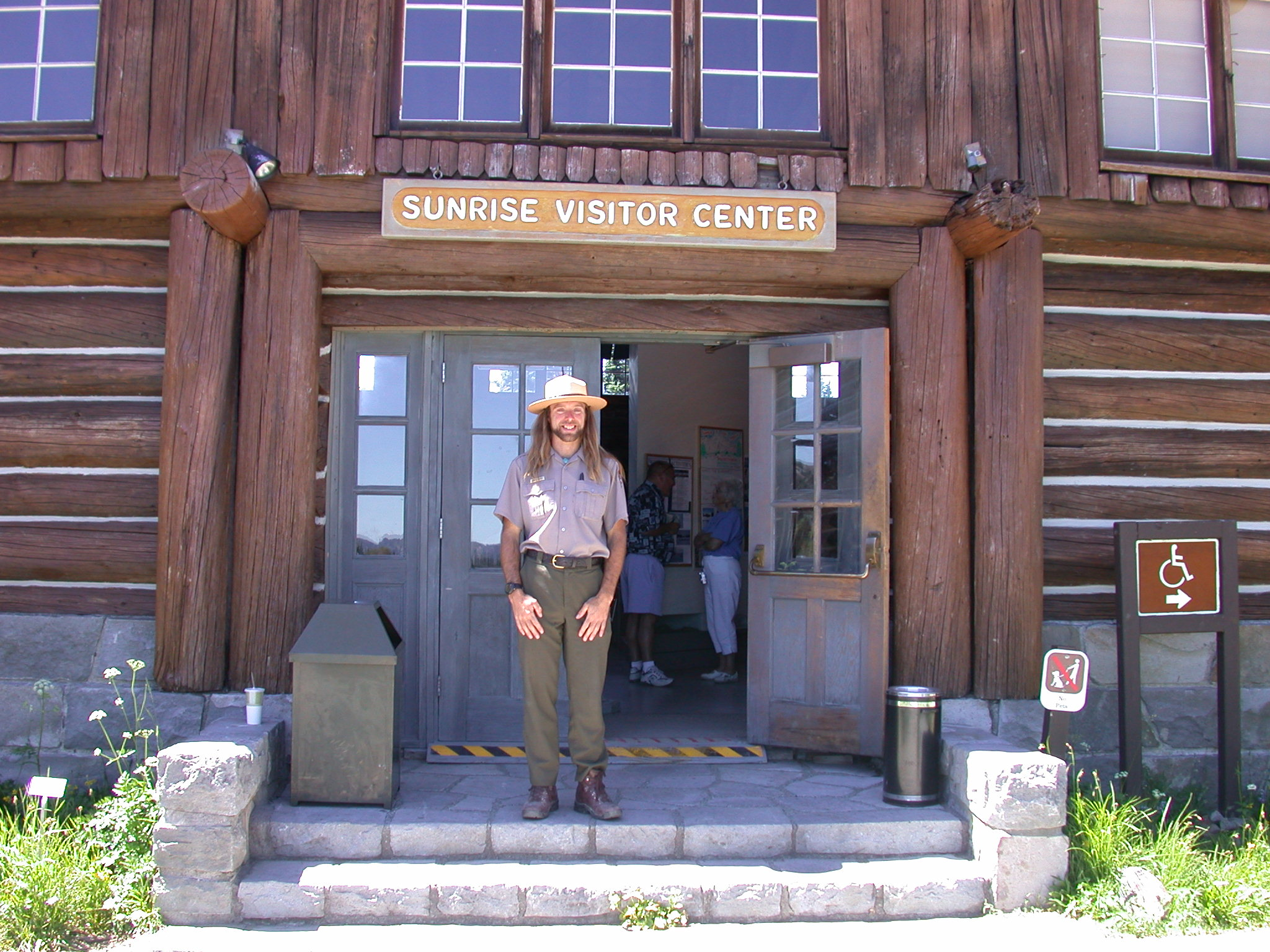 Ranger Sierra at Sunrise Camp Visitor Center on Mount Rainier II