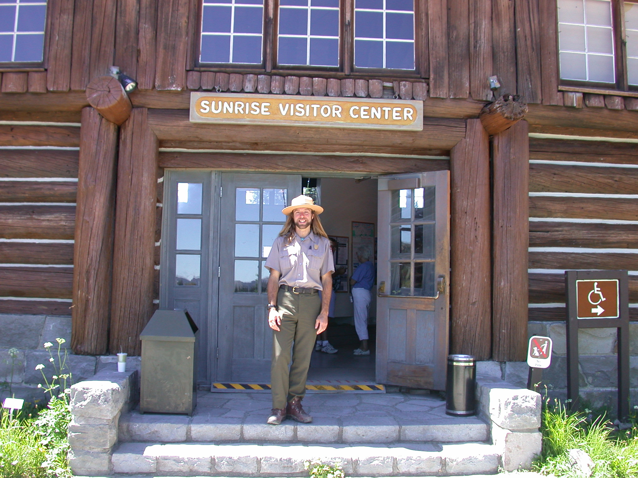 Ranger Sierra at Sunrise Camp Visitor Center on Mount Rainier III