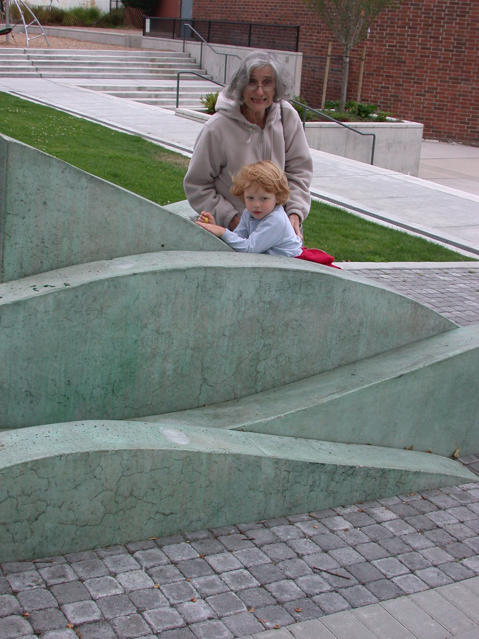 Mom and Zachary at Library Playground
