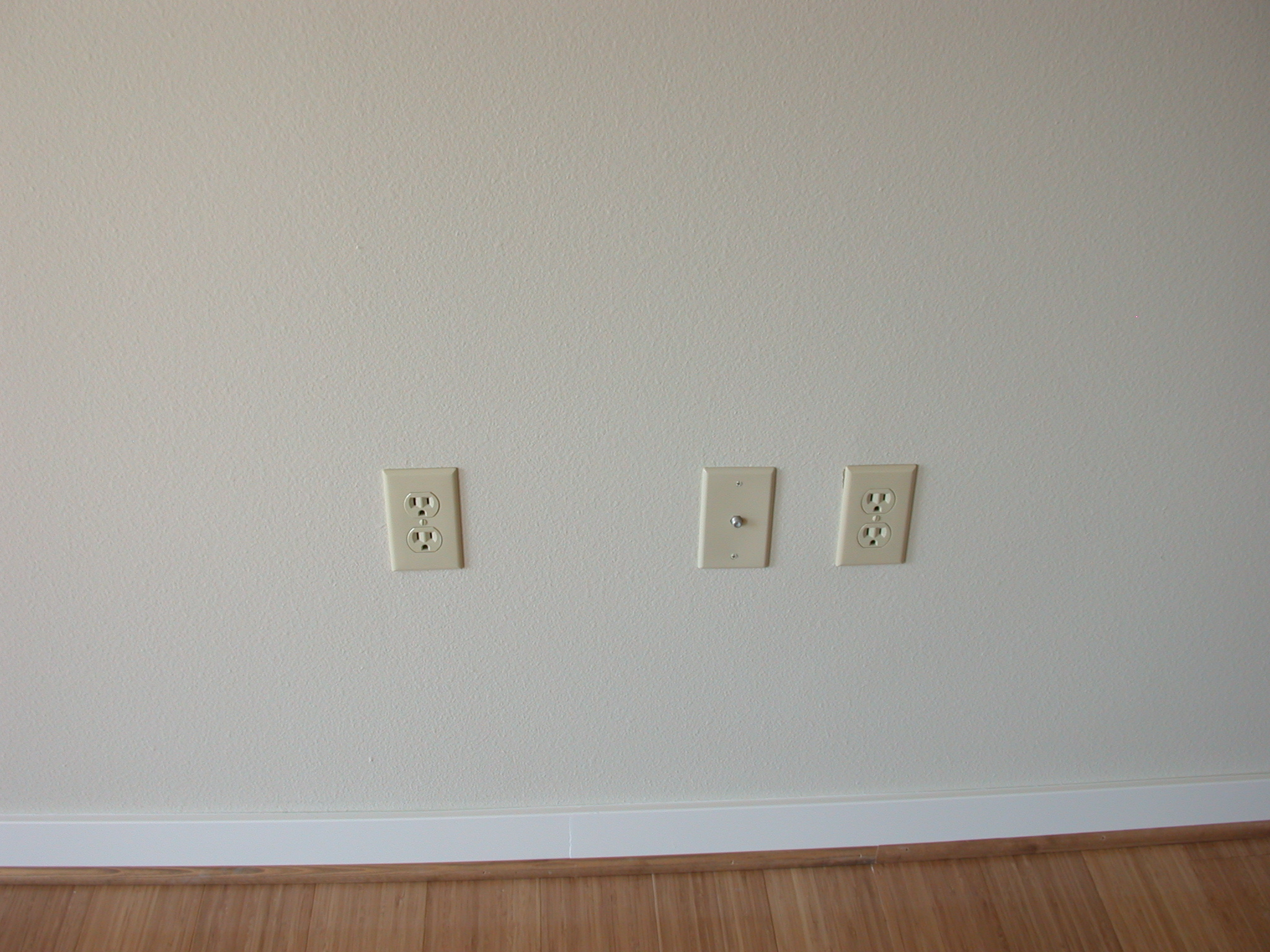 Outlets in Living Room of Moms Condominium