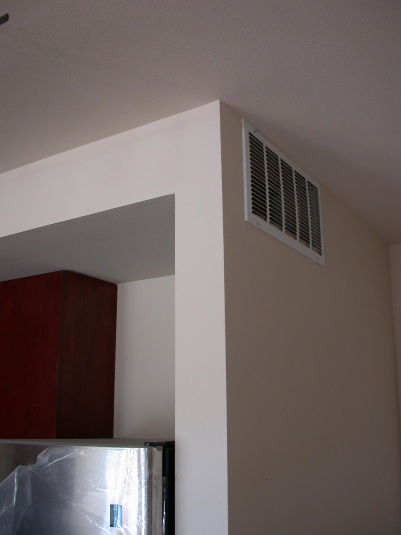Vent Near Front Door on Entering Living Room of Moms Condominium
