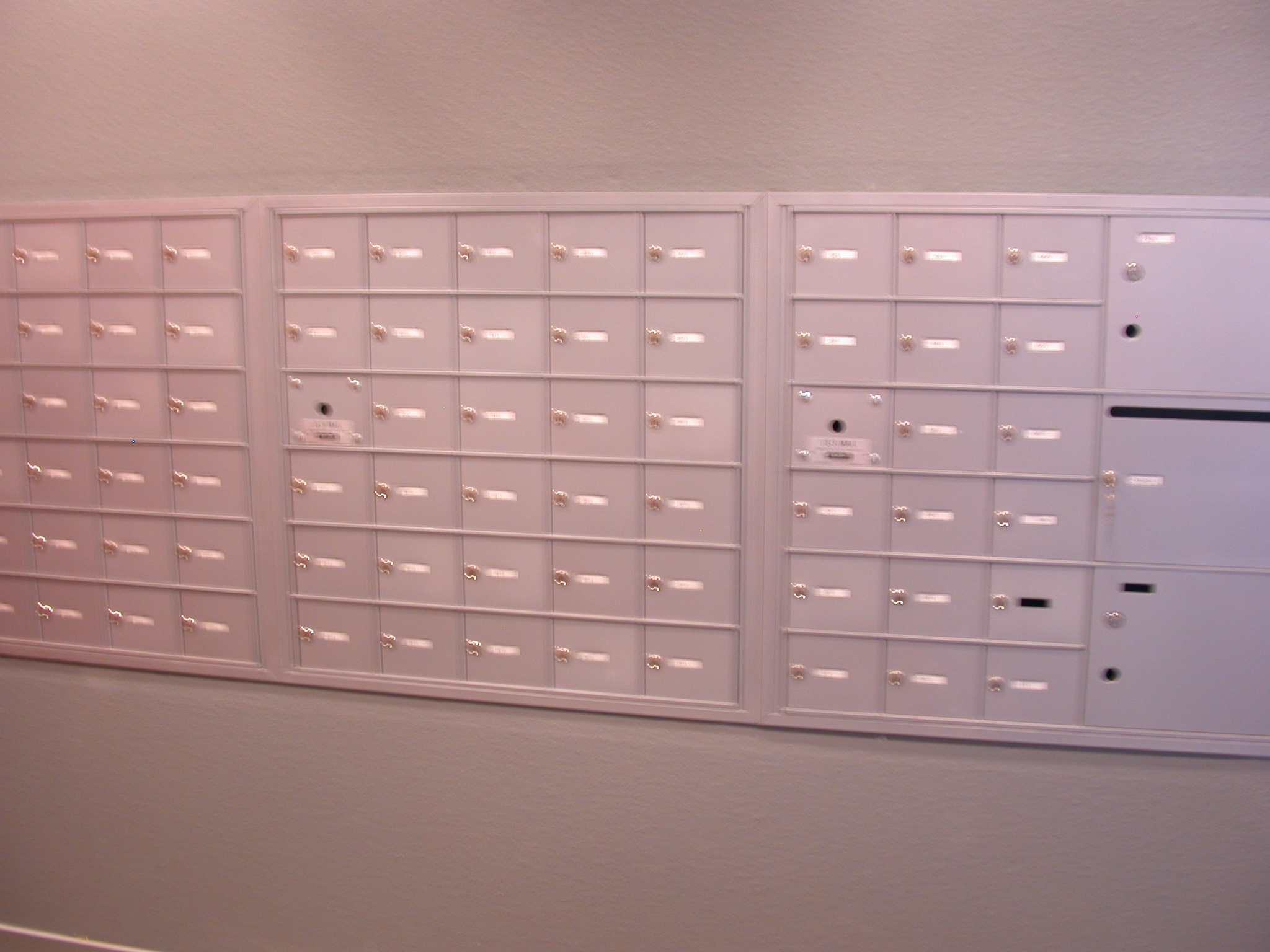 Mailboxes in Front Lobby of Moms Condominium Building