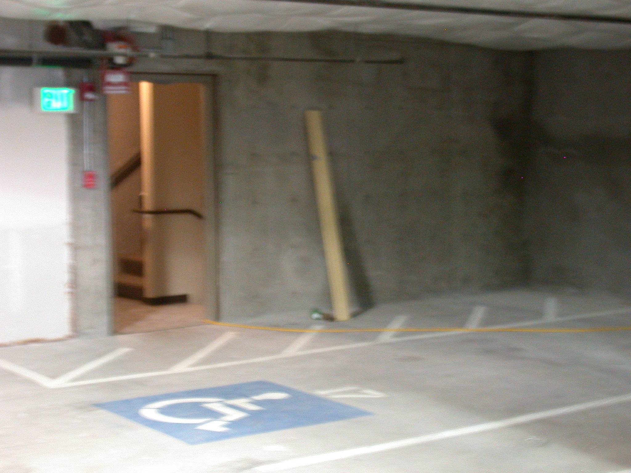 Similar Parking Spot One Floor Up From Handicapped Spot Assigned to Moms Condominium