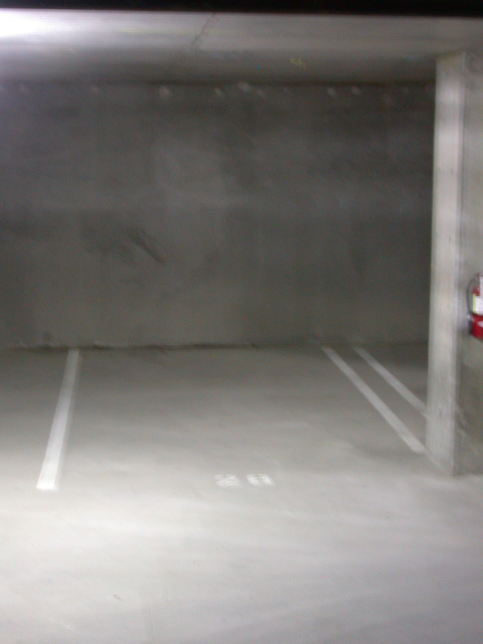 One of the Basement Parking Spots Assigned to Moms Condominium