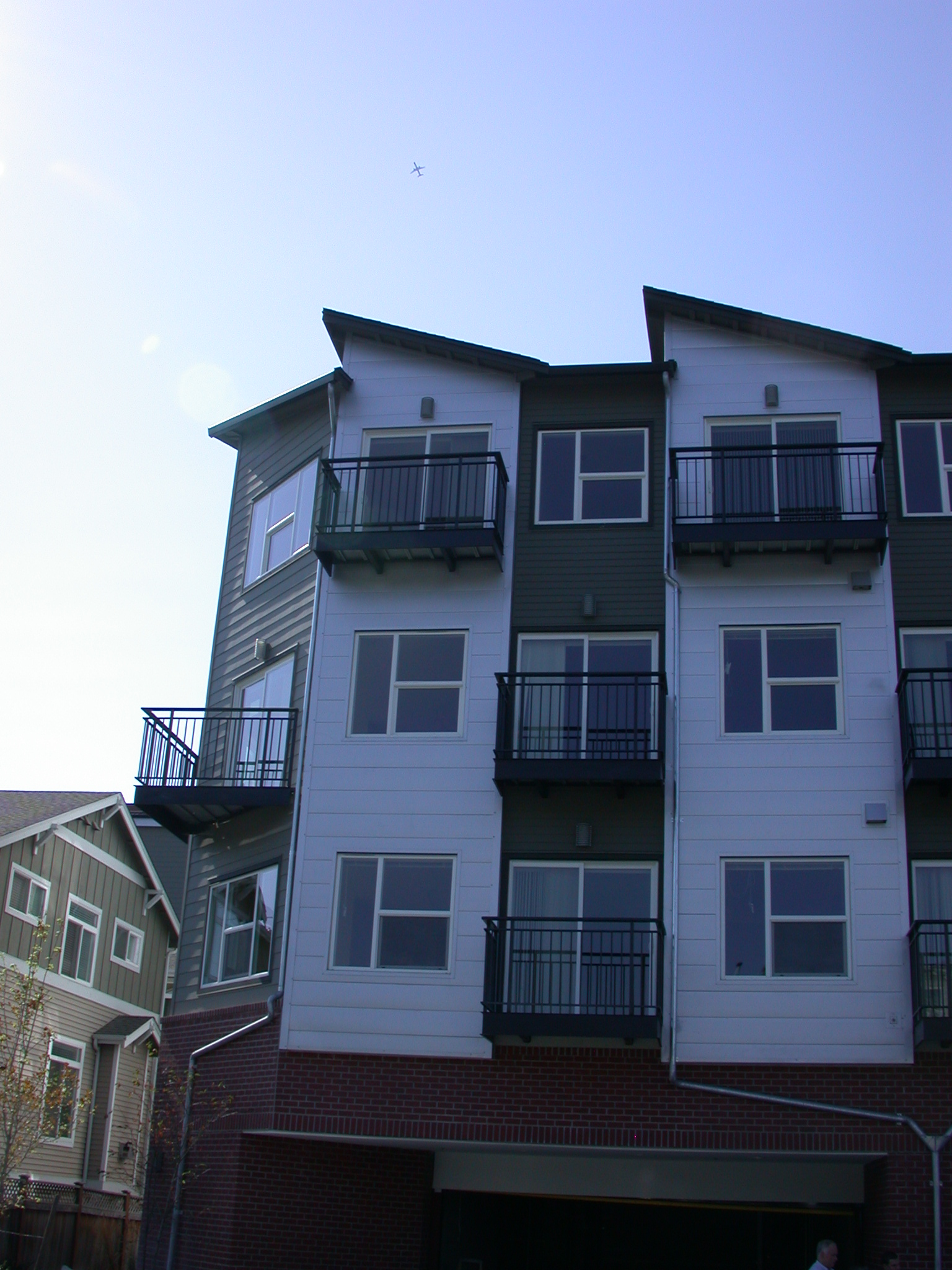 Rear Left Exterior of Moms Condominium Building