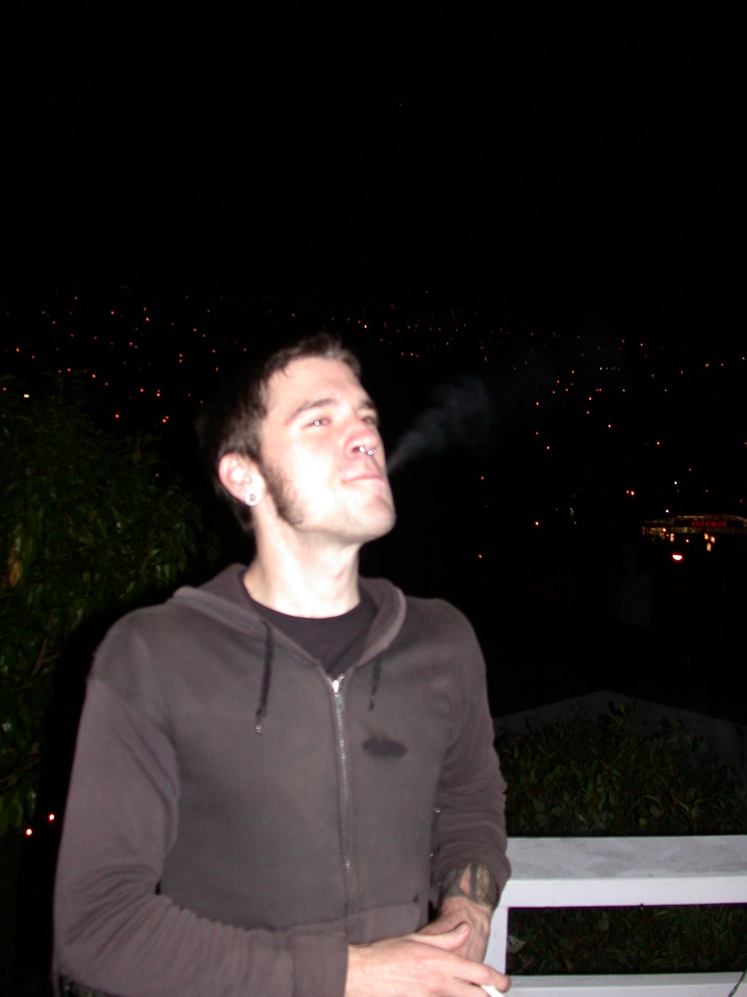 Steven Exhaling Poisonous Fumes