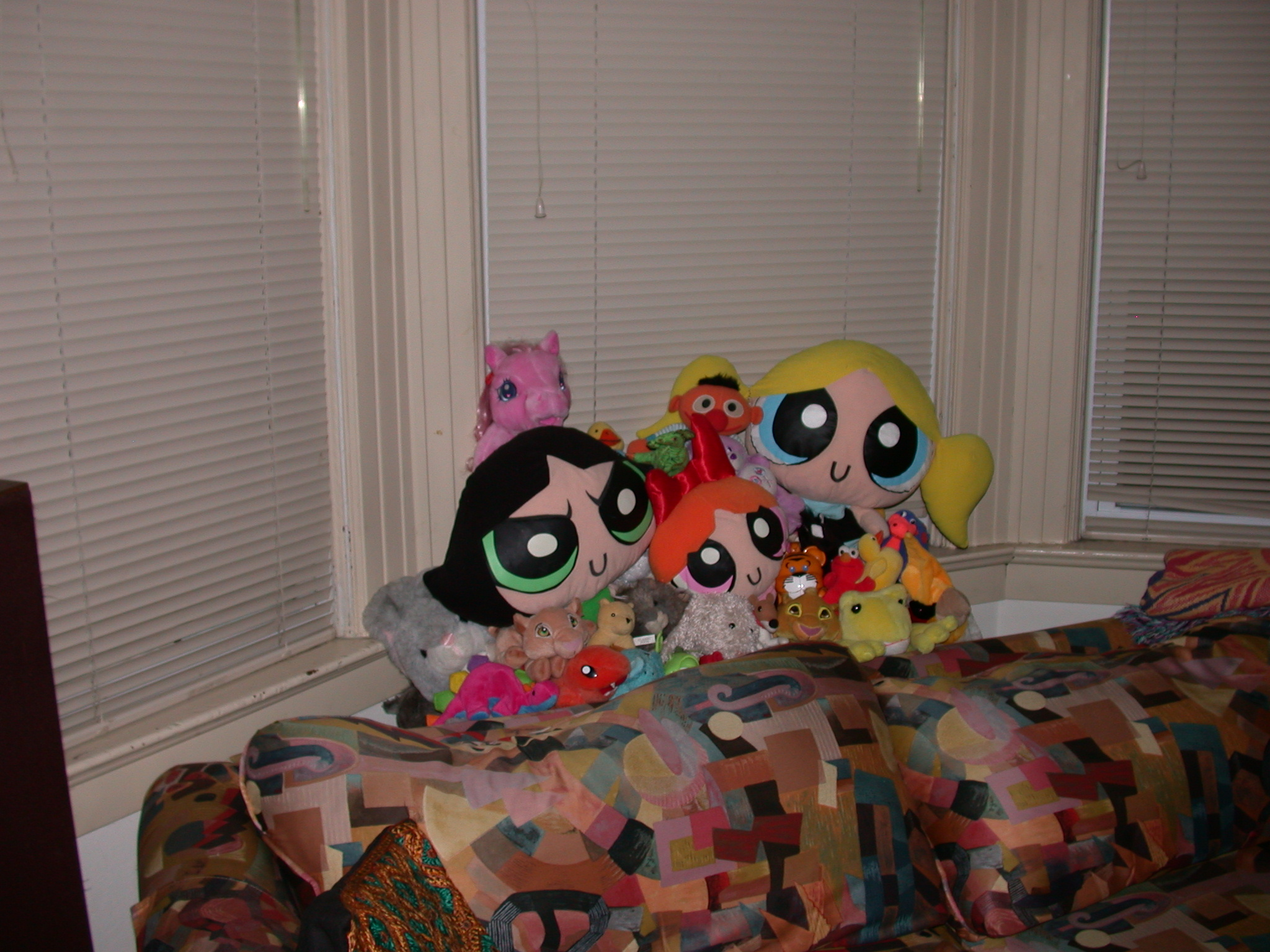Power Puff Girls and Their Posse Alarmed by Tenor of Party and Dubious Character of Guests